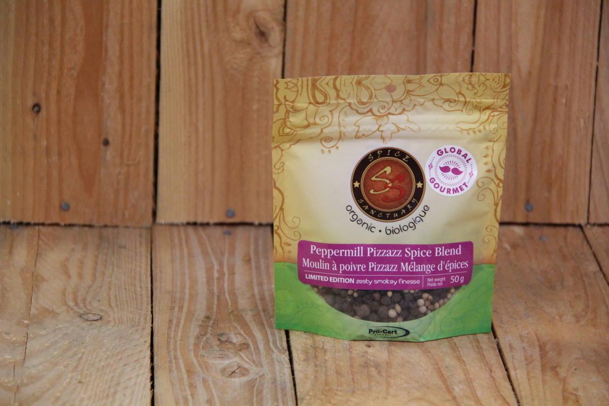 Spice Sanctuary – Organic Peppermill Pizzazz Whole Spice Blend (50g Bag)