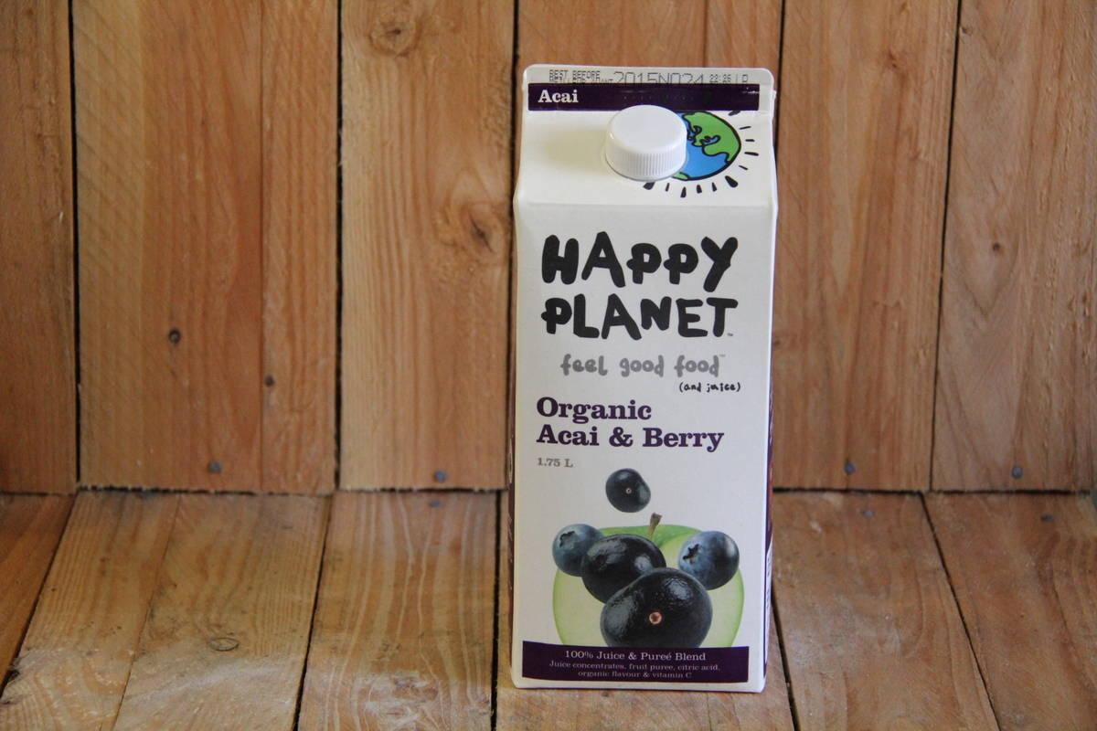 Happy Planet – Organic Acai & Berry Juice (1.75L Carton)