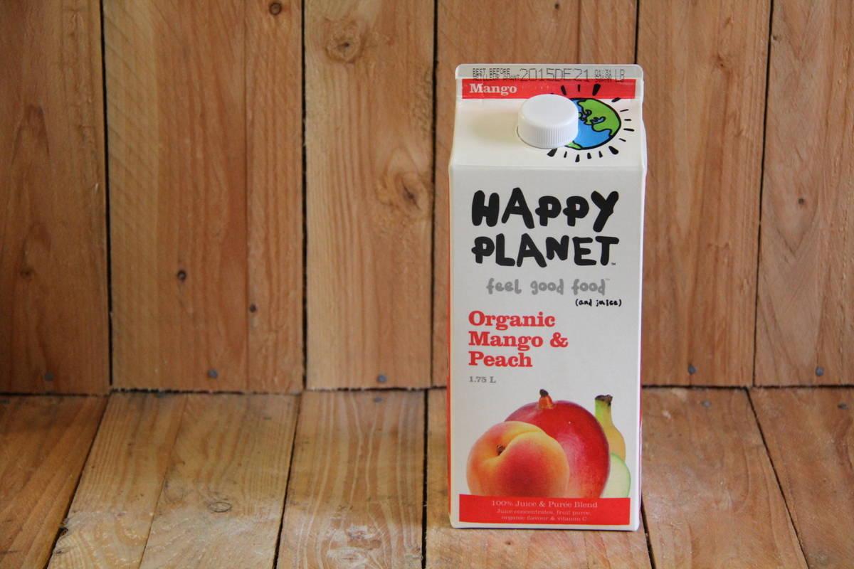 Happy Planet – Organic Mango Peach Juice (1.75L Carton)