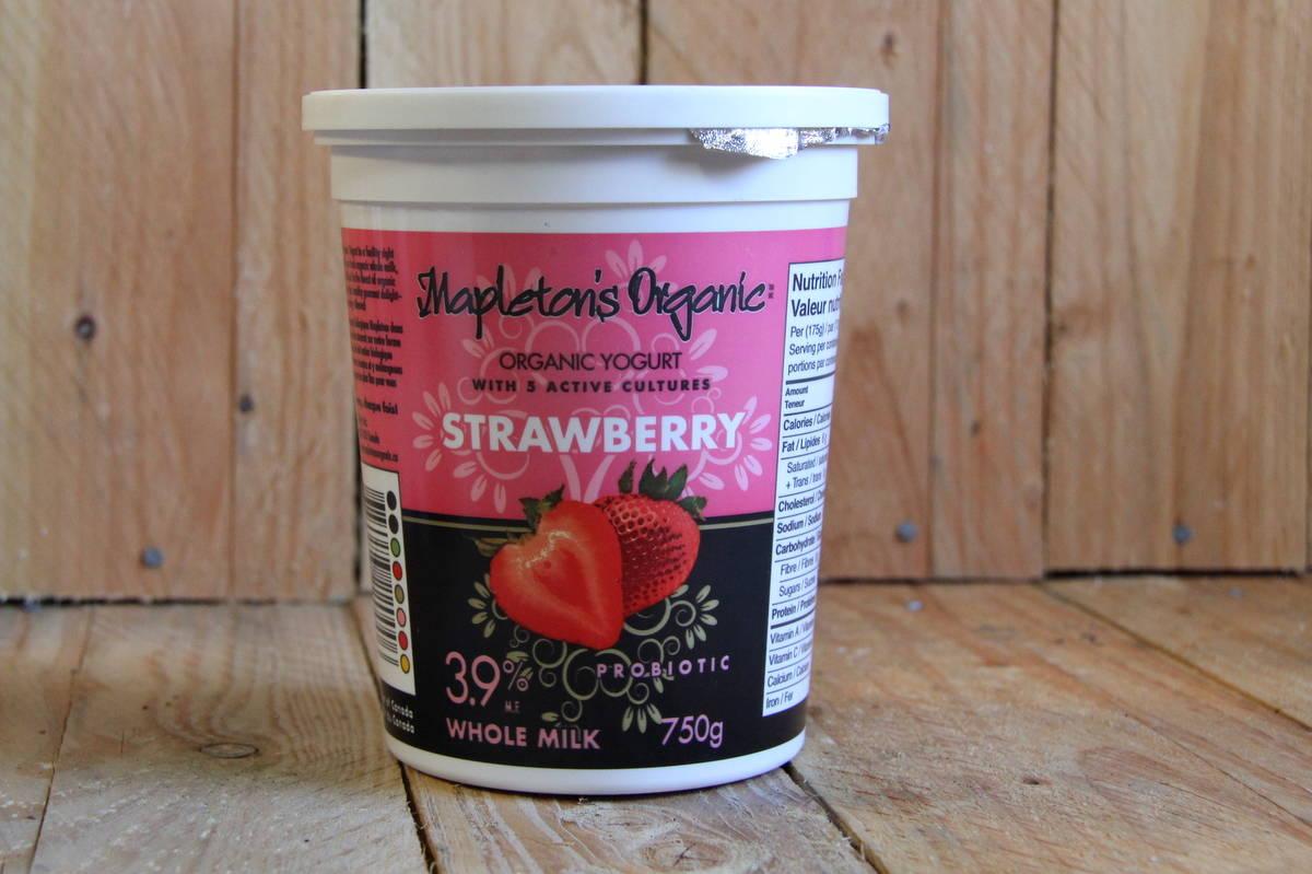 Mapleton Dairy – Yogurt – Organic Strawberry 3.9%MF (750g)