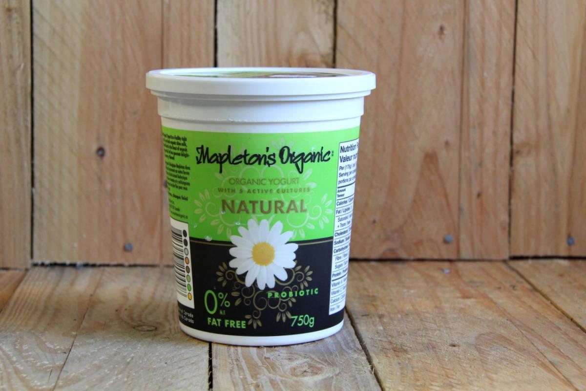 Mapleton Dairy – Yogurt – Organic Plain Fat Free (750g)