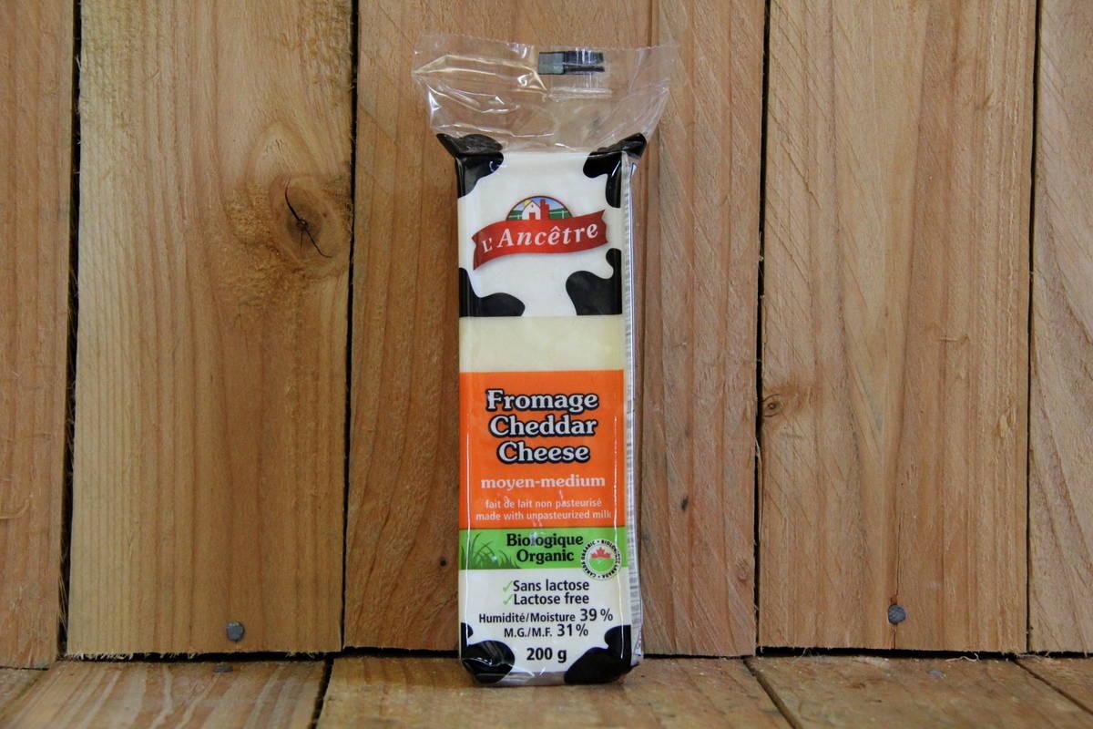 L'Ancetre – Cheddar Cheese – Lactose-Free Medium (200g)