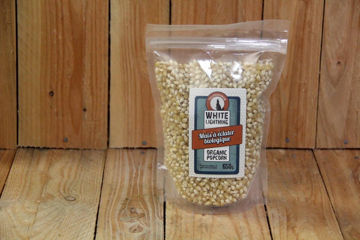 Tullochgorum Farm – Organic White Popcorn LOCAL (650g Bag)