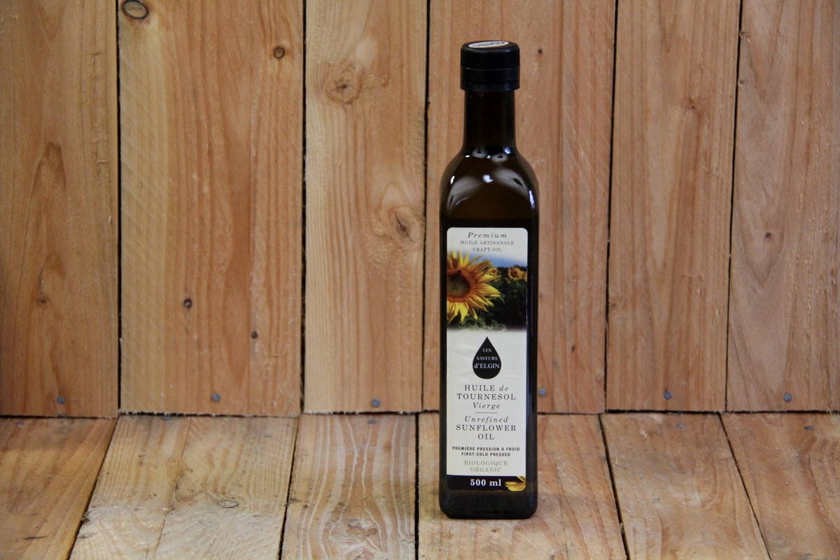 Les Saveurs d'Elgin – Oil – Sunflower Cold Pressed LOCAL (500ml)
