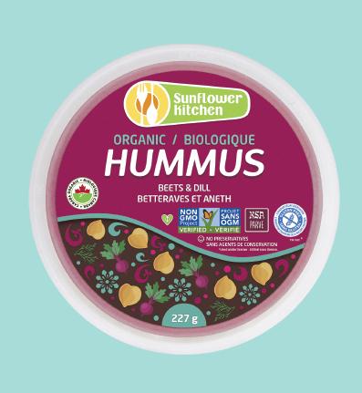 Sunflower Kitchen – Organic GMO-free Hummus, Beets & Dill (227g)