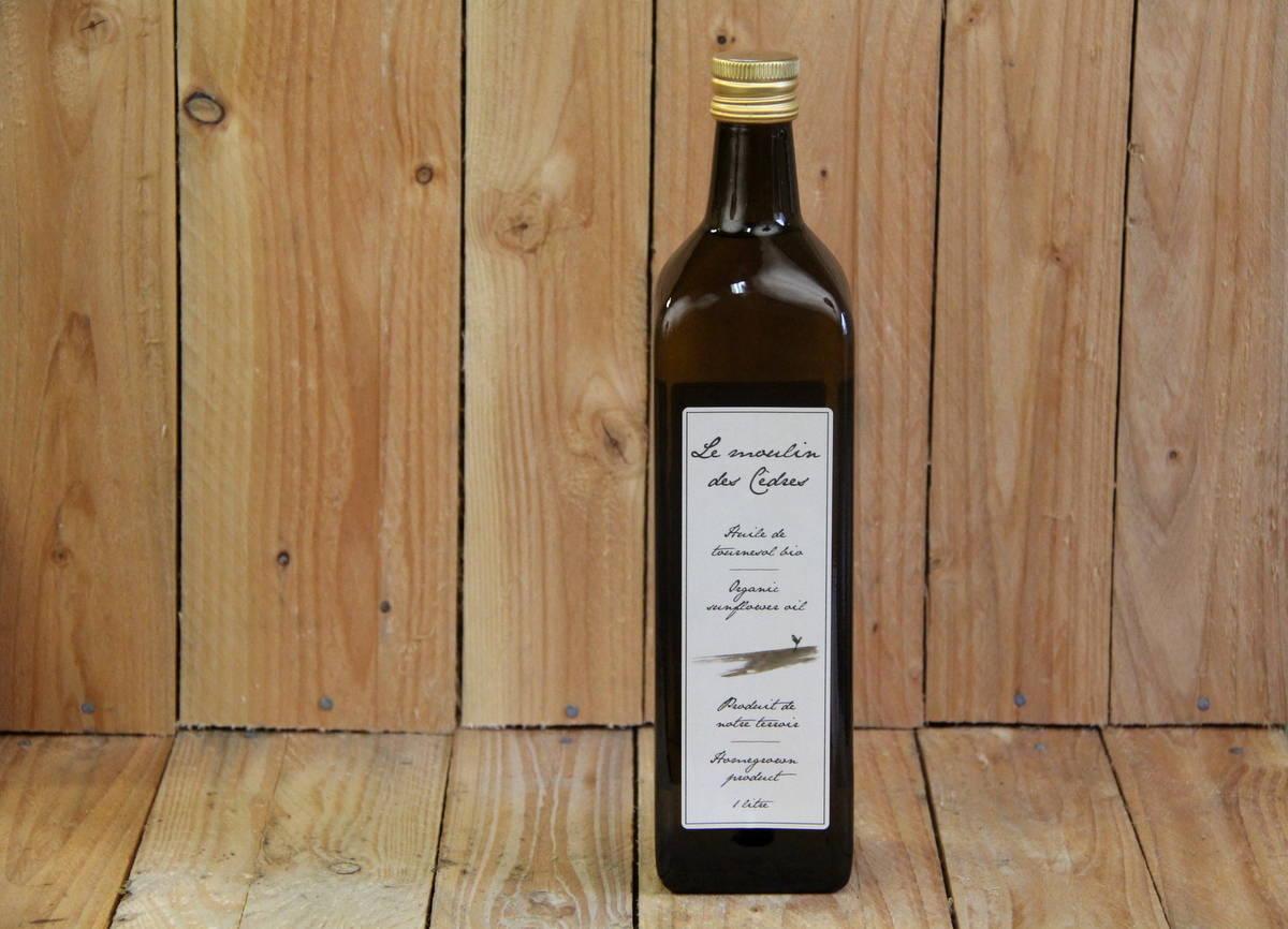 Les Moulins des Cedres – Sunflower Oil (1L Bottle)