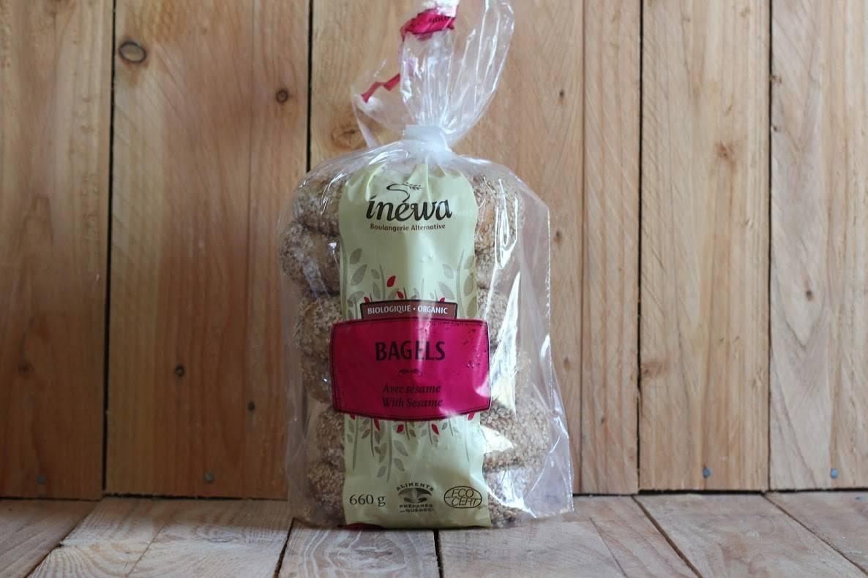 Inewa Bakery – Sesame Wheat Bagels (Pkg/6)