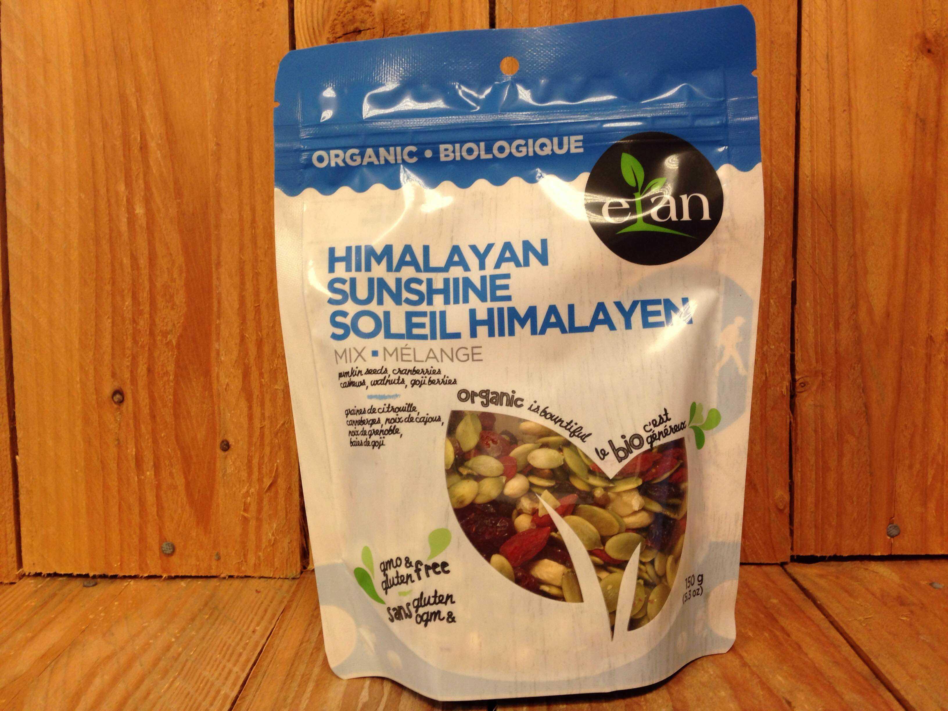 Elan – Himalayan Sunshine Mix – Pumpkin Seeds, Cranberries, Cashews, Walnuts & Goji Berries (150g)
