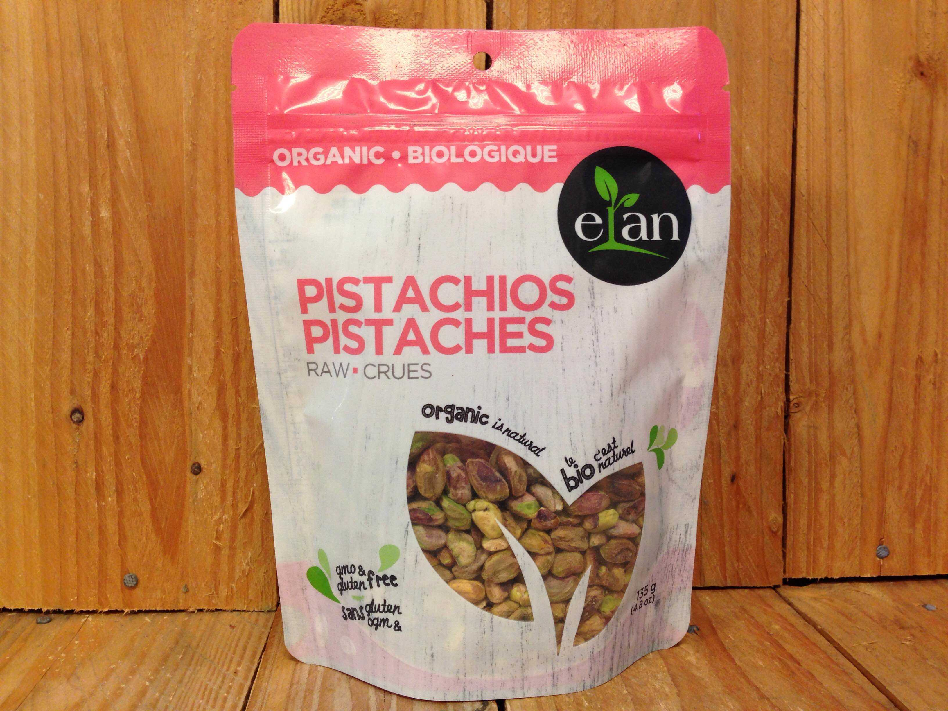 Elan – Organic Pistachios, Raw Shelled (135g)