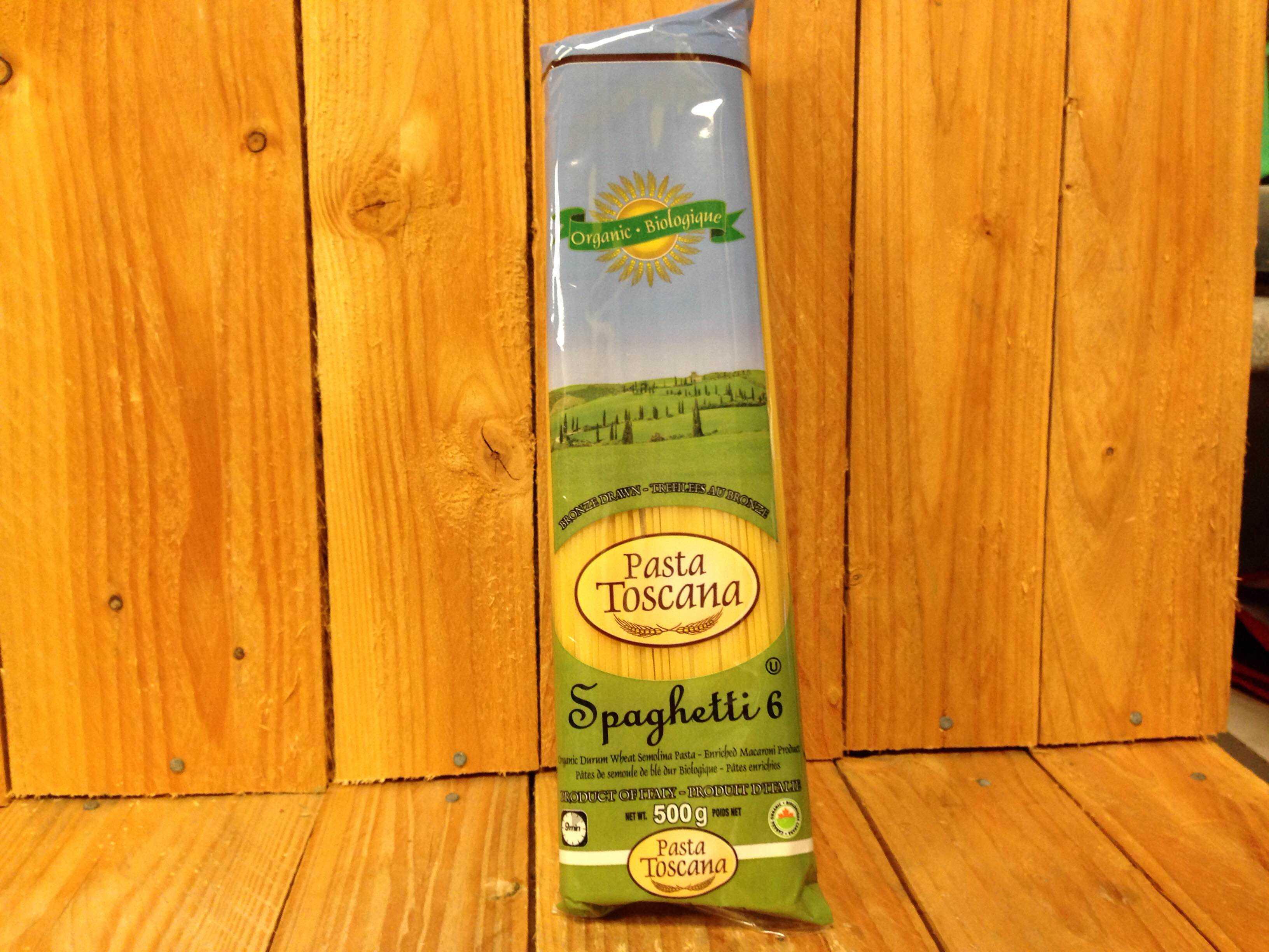 Pasta Toscana – Organic Spaghetti – Durum Wheat (500g Bag)