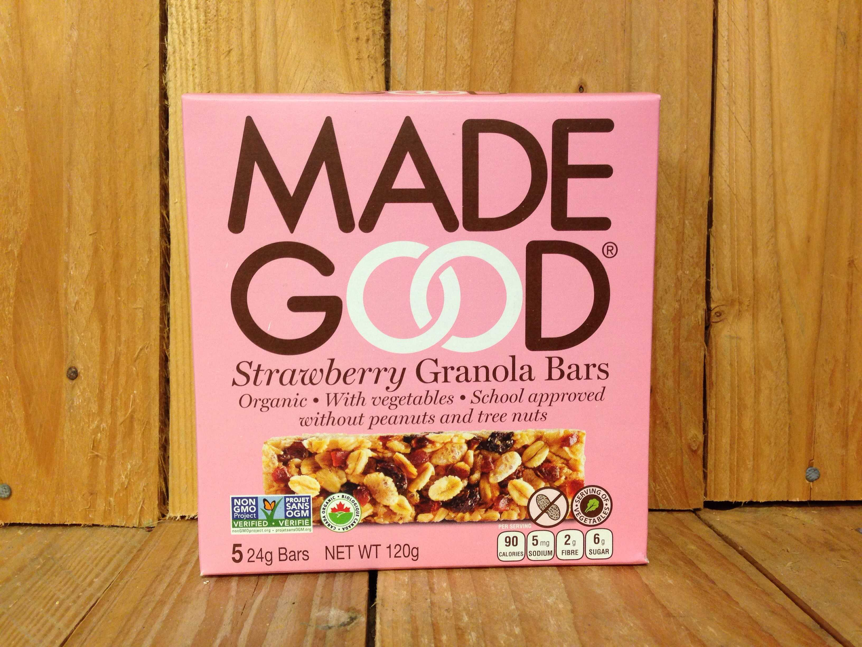 Made Good – Granola Bars – Strawberry (5 x 24g bars)