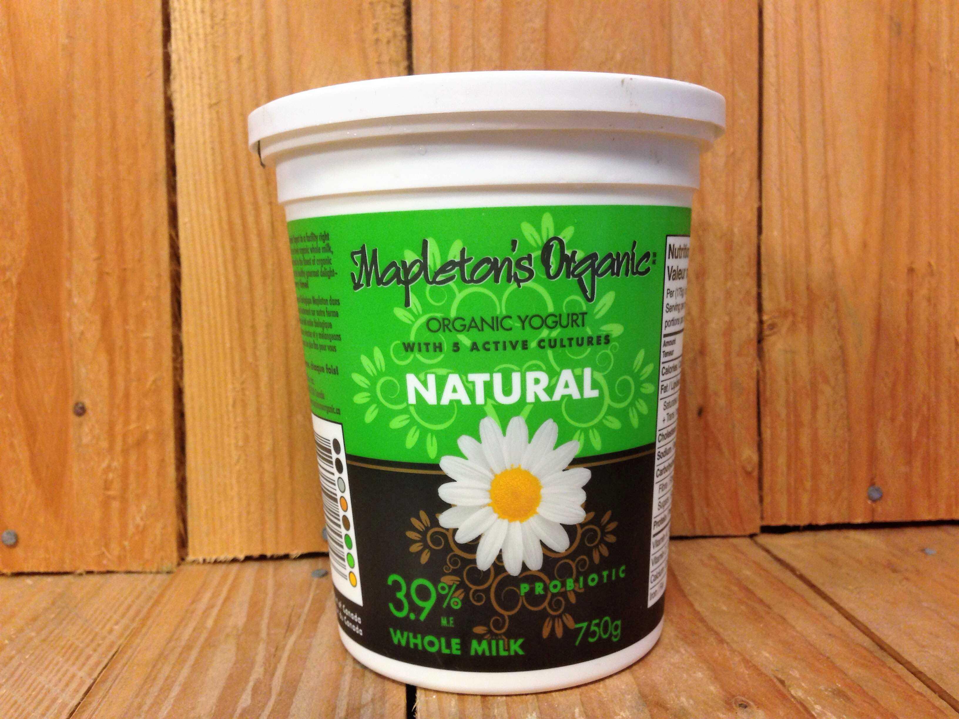 Mapleton Dairy – 3.9% WHOLE Milk  Natural Yogurt (750g)