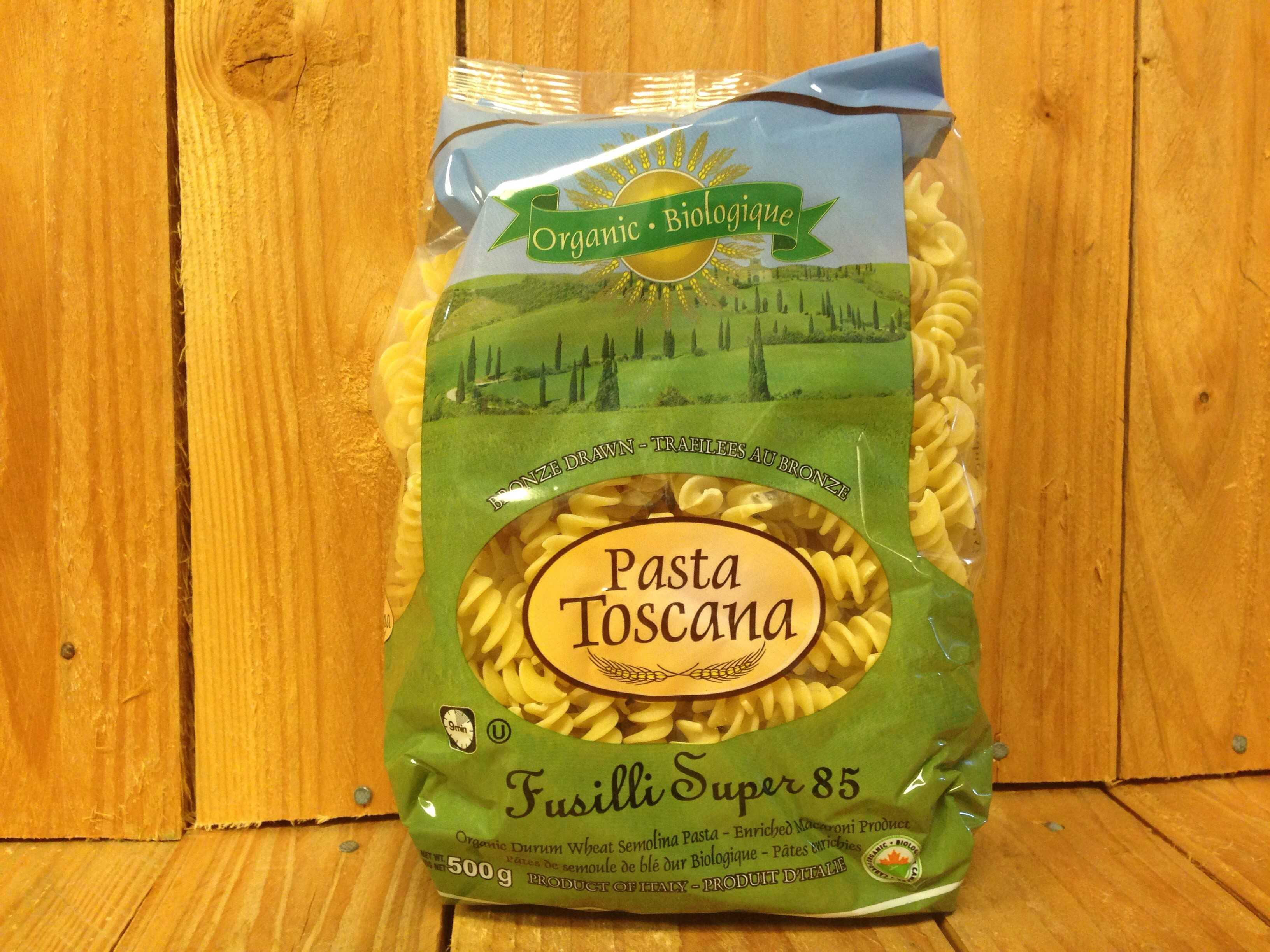 Pasta Toscana – Organic Fusilli – Durum Wheat (500g Bag)