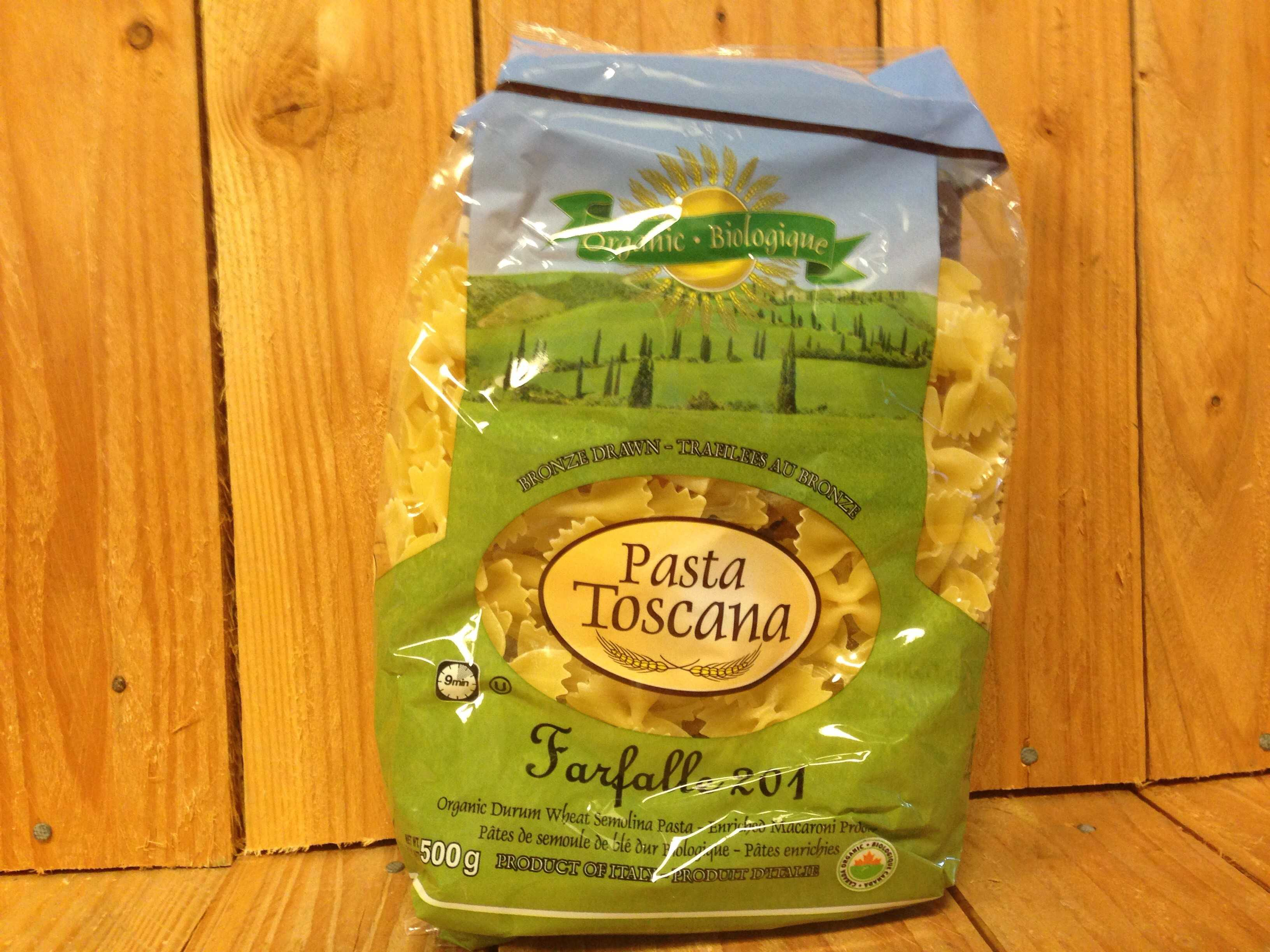 Pasta Toscana – Organic Farfalle – Durum Wheat (500g Bag)