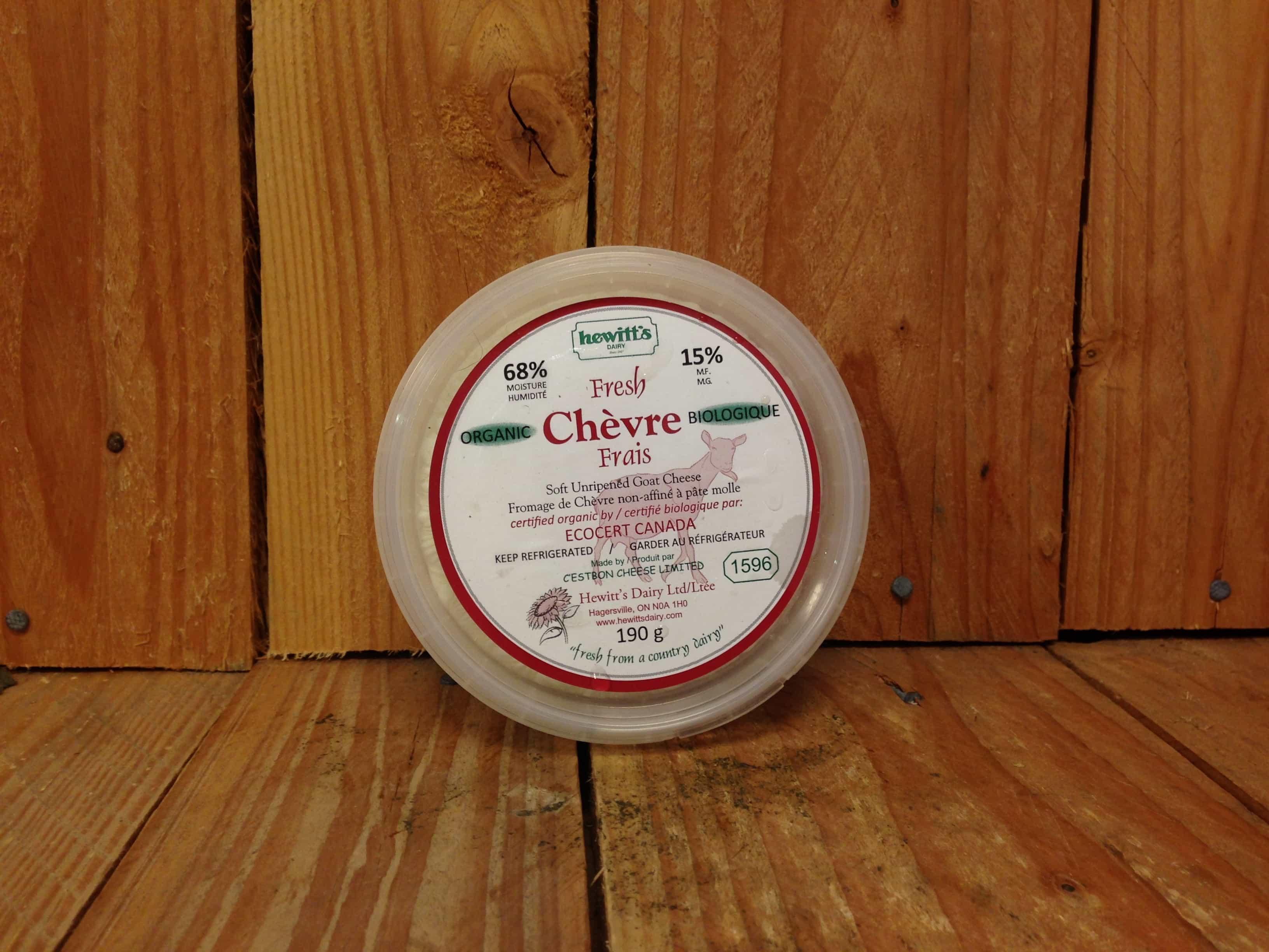 Hewitt's Dairy – Goat Chevre (190g Tub)