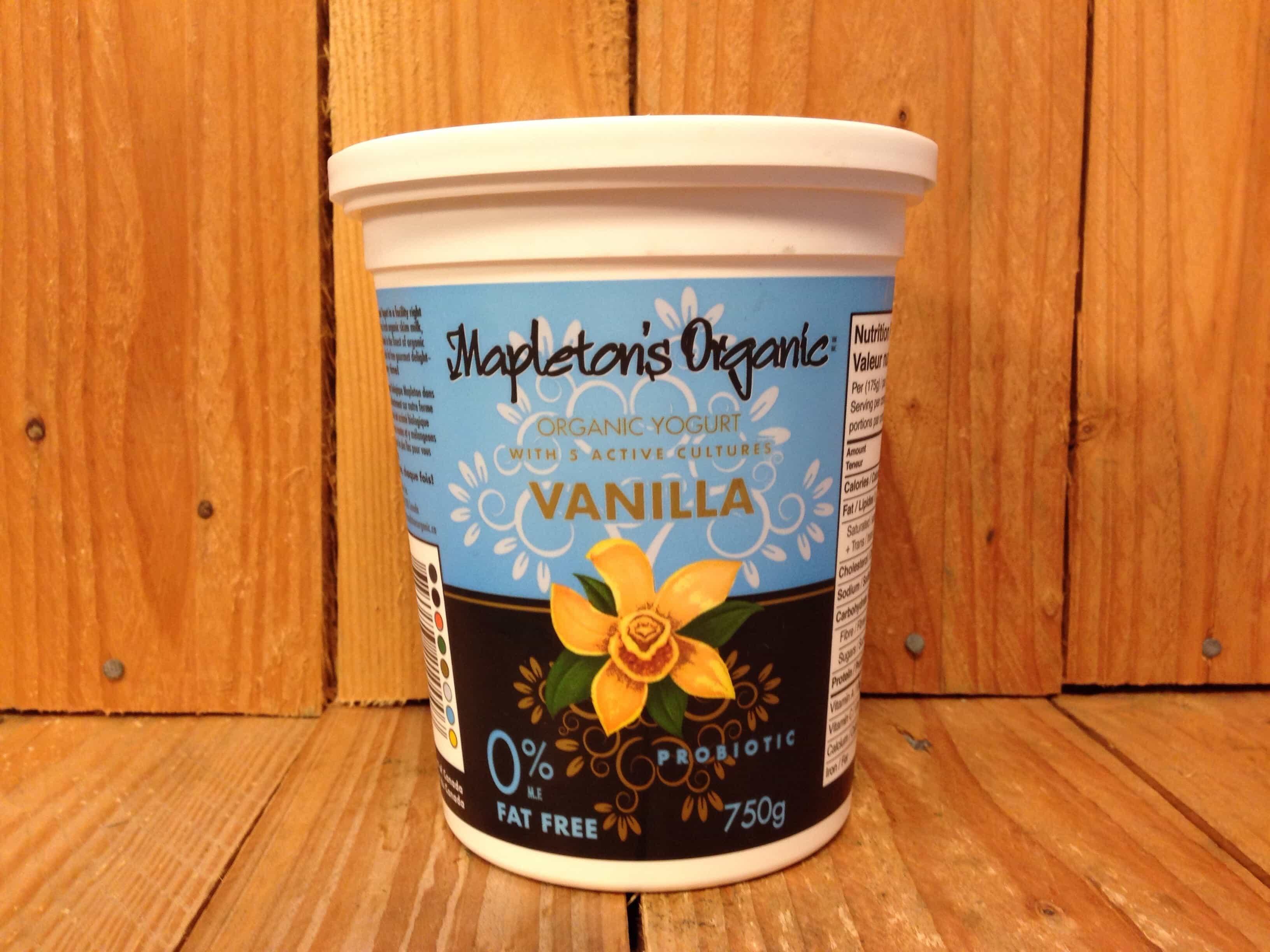 Mapleton Dairy – Yogurt – Organic Vanilla Fat Free (750g)