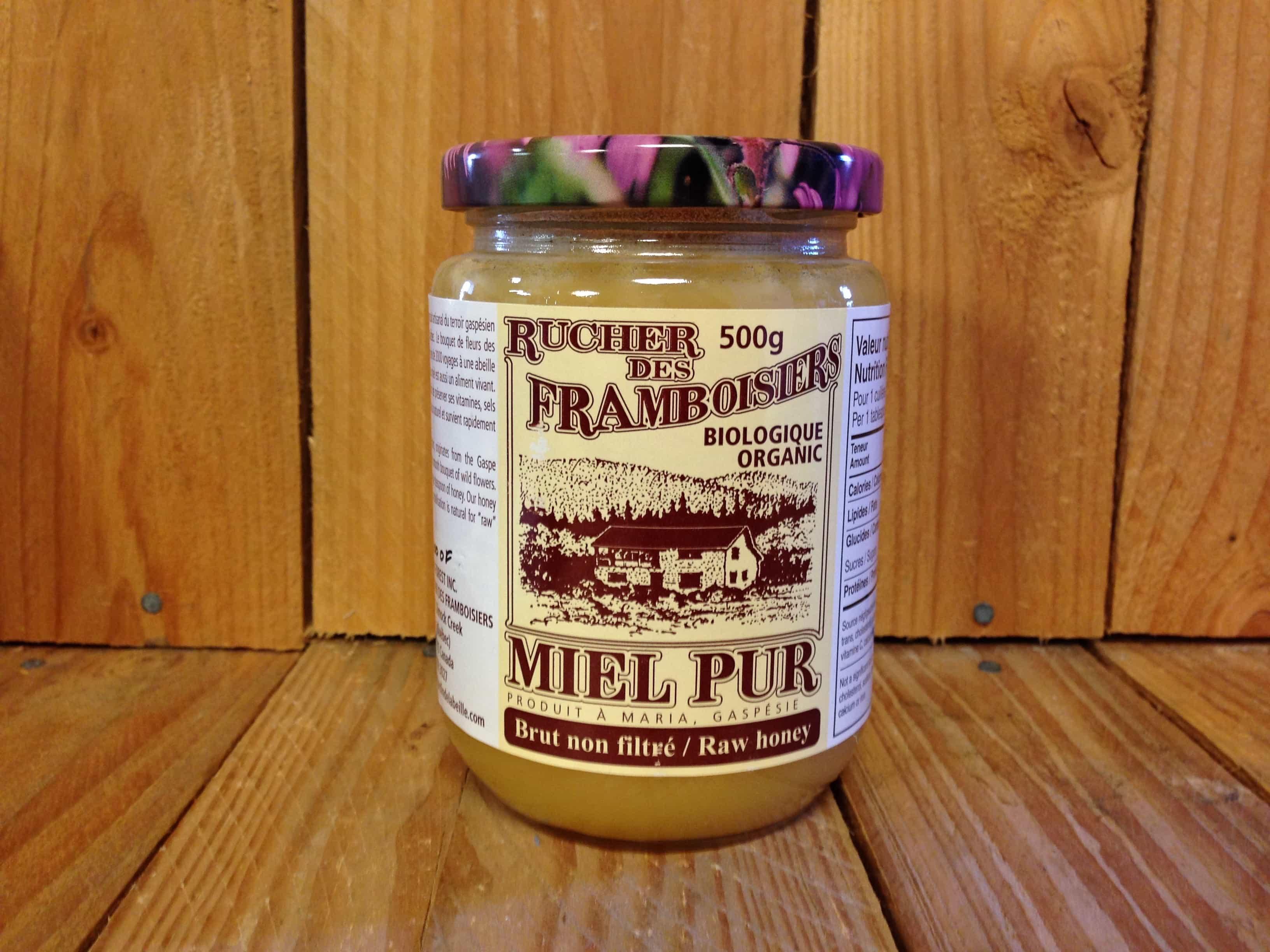 Rucher de Framboisiers – Organic Honey – Raw Unfiltered QUEBEC (500g)
