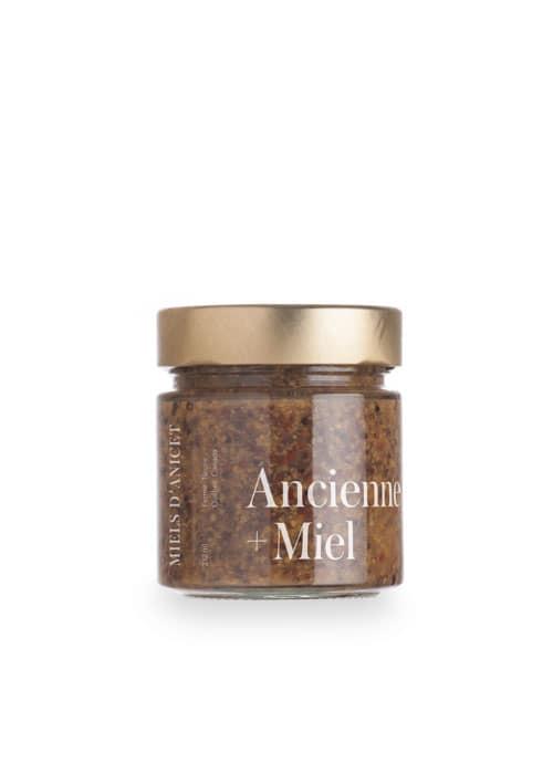 Miels d'Anicet – Mustard – Old-Fashioned + Honey (212ml Jar)