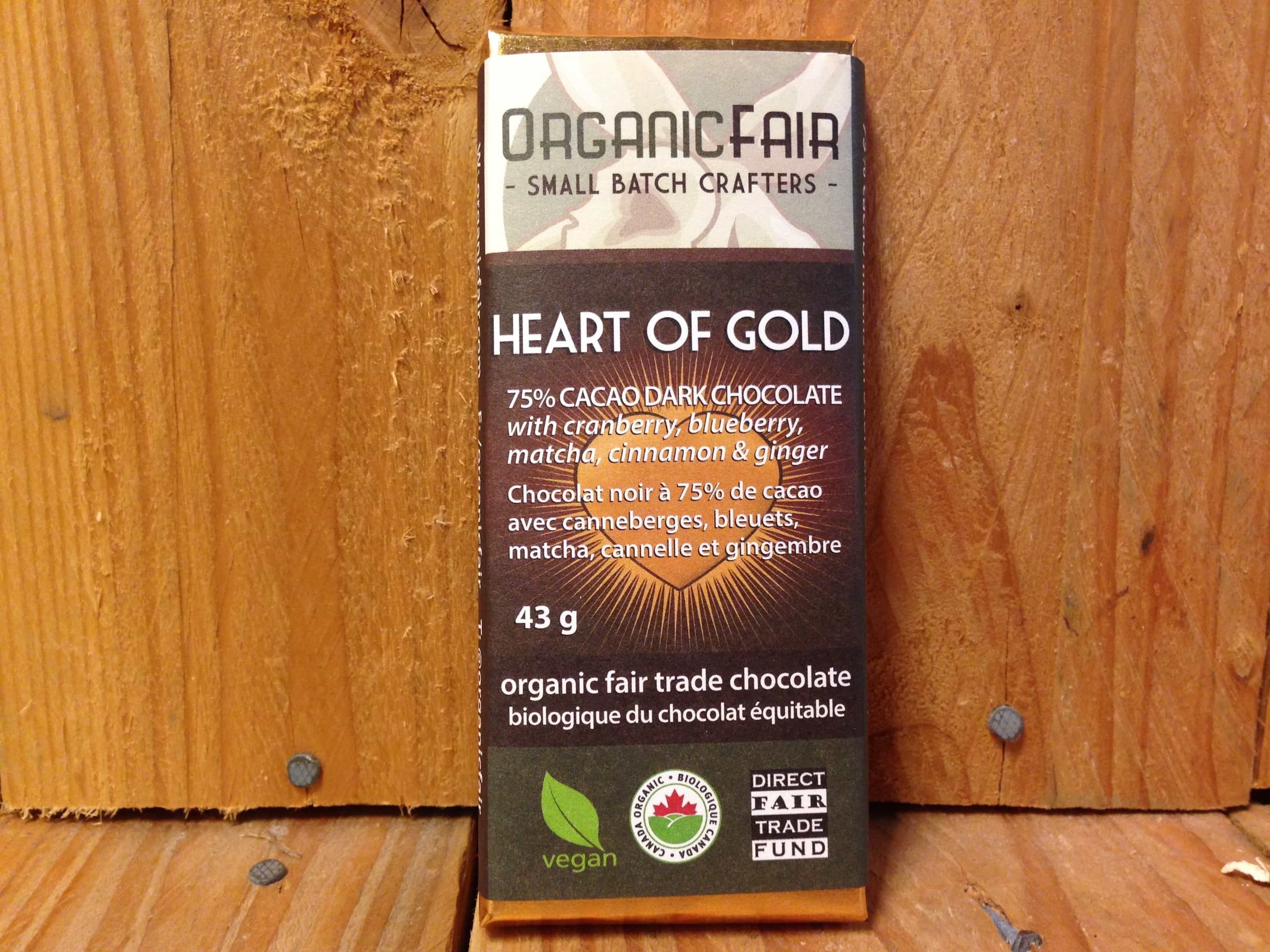 Organic Fair – Chocolate – Heart of Gold (43g)