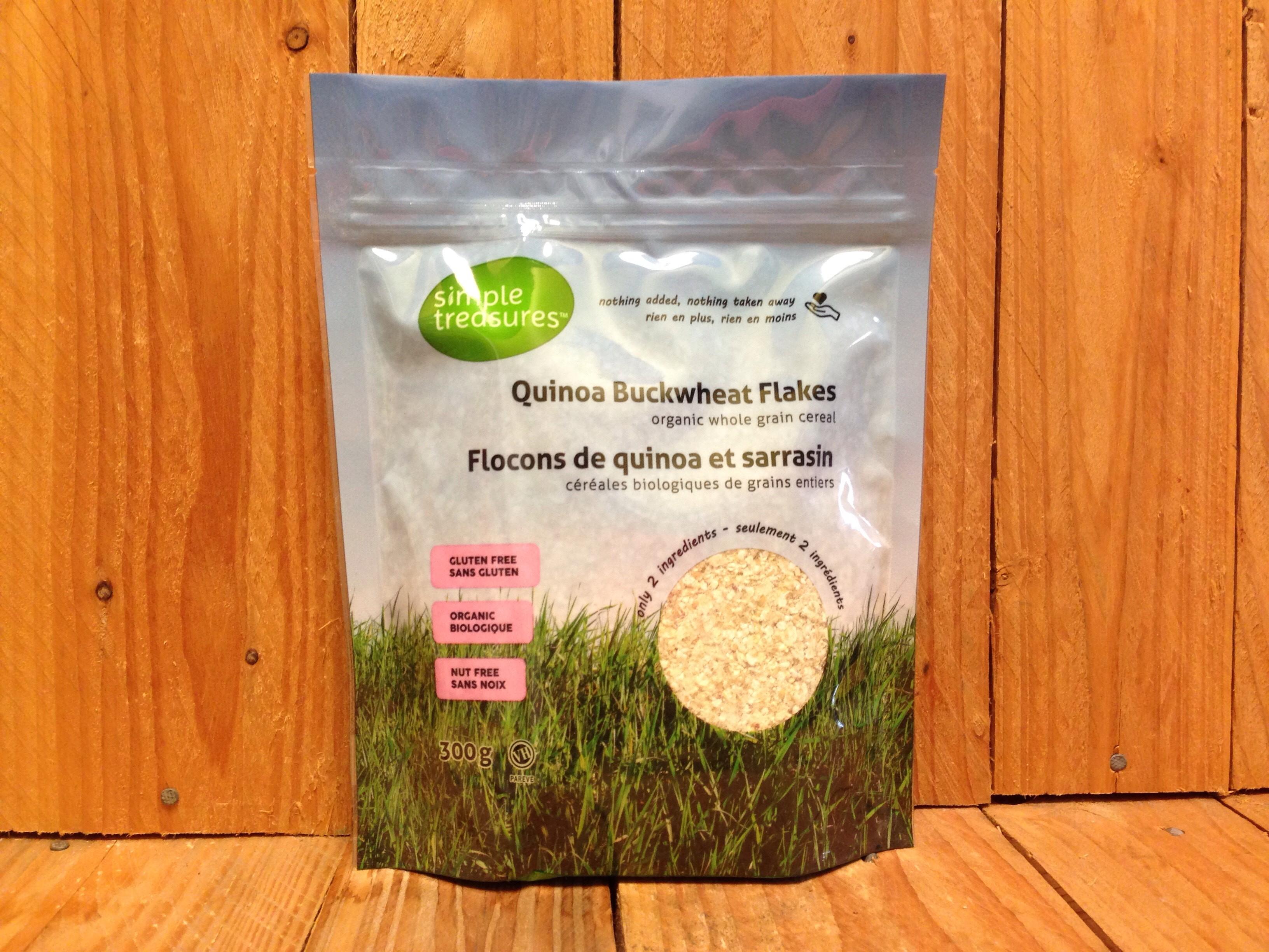 Simple Treasures – Quinoa Buckwheat Flakes – Whole Grain Cereal (300ml)