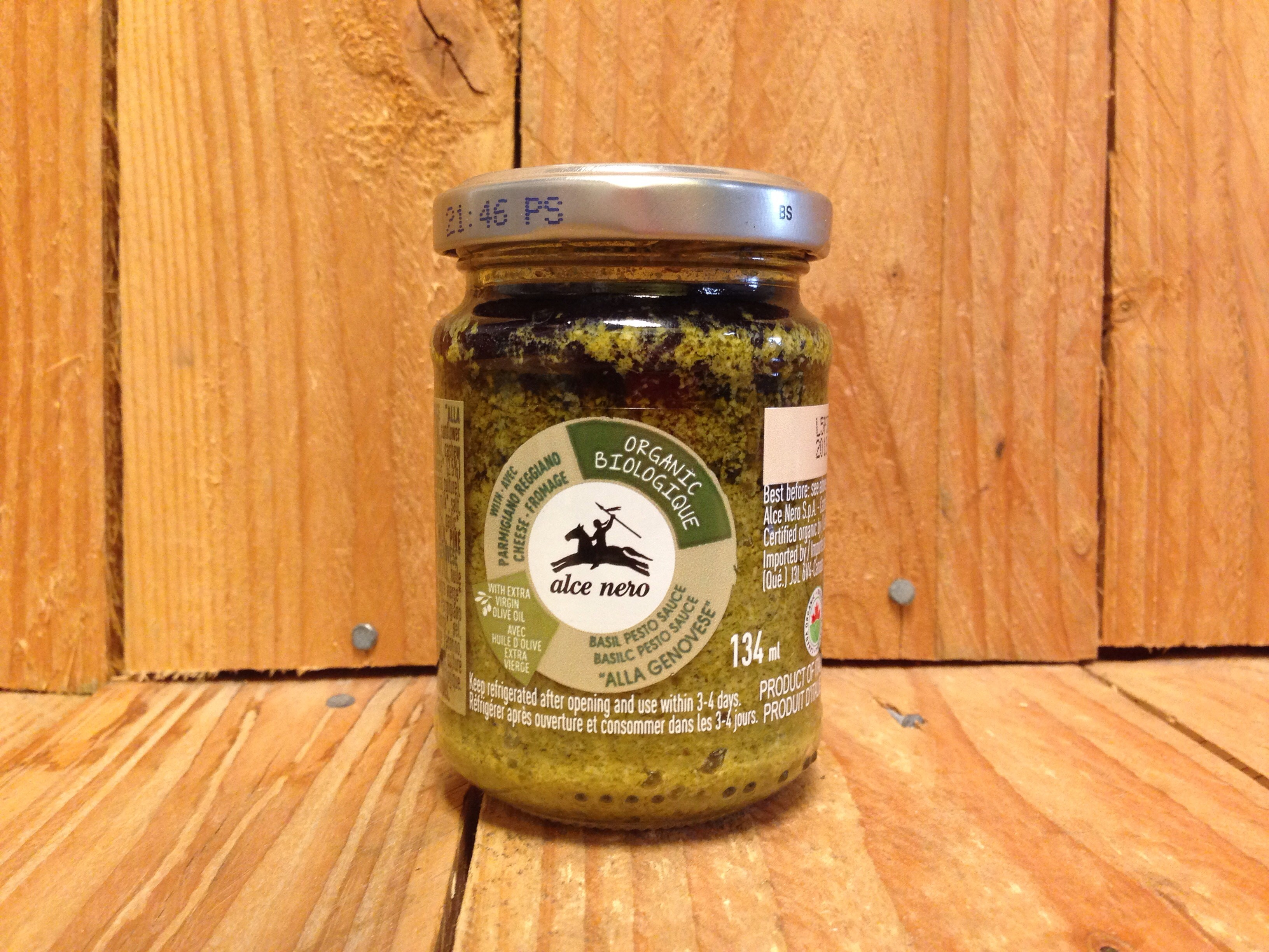 Alce Nero – Pesto – Alla Genovese Sauce (134ml Glass Jar)