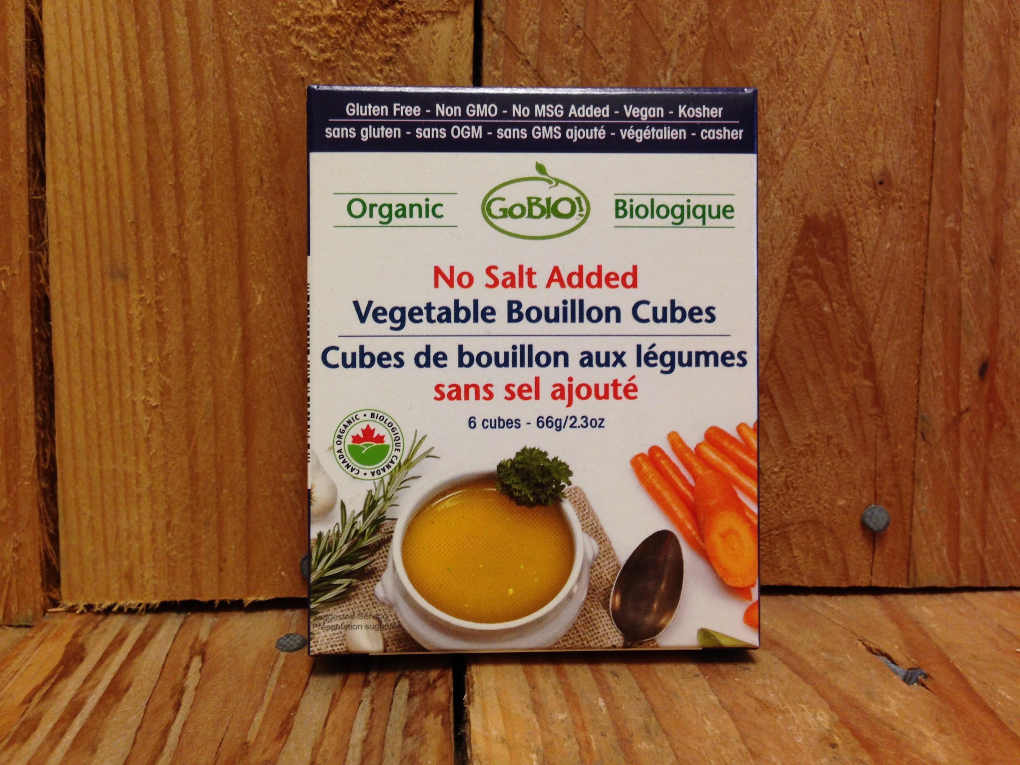GoBio! – Organic Vegetable Bouillon Cubes – Low Sodium (6 Cubes/60g)