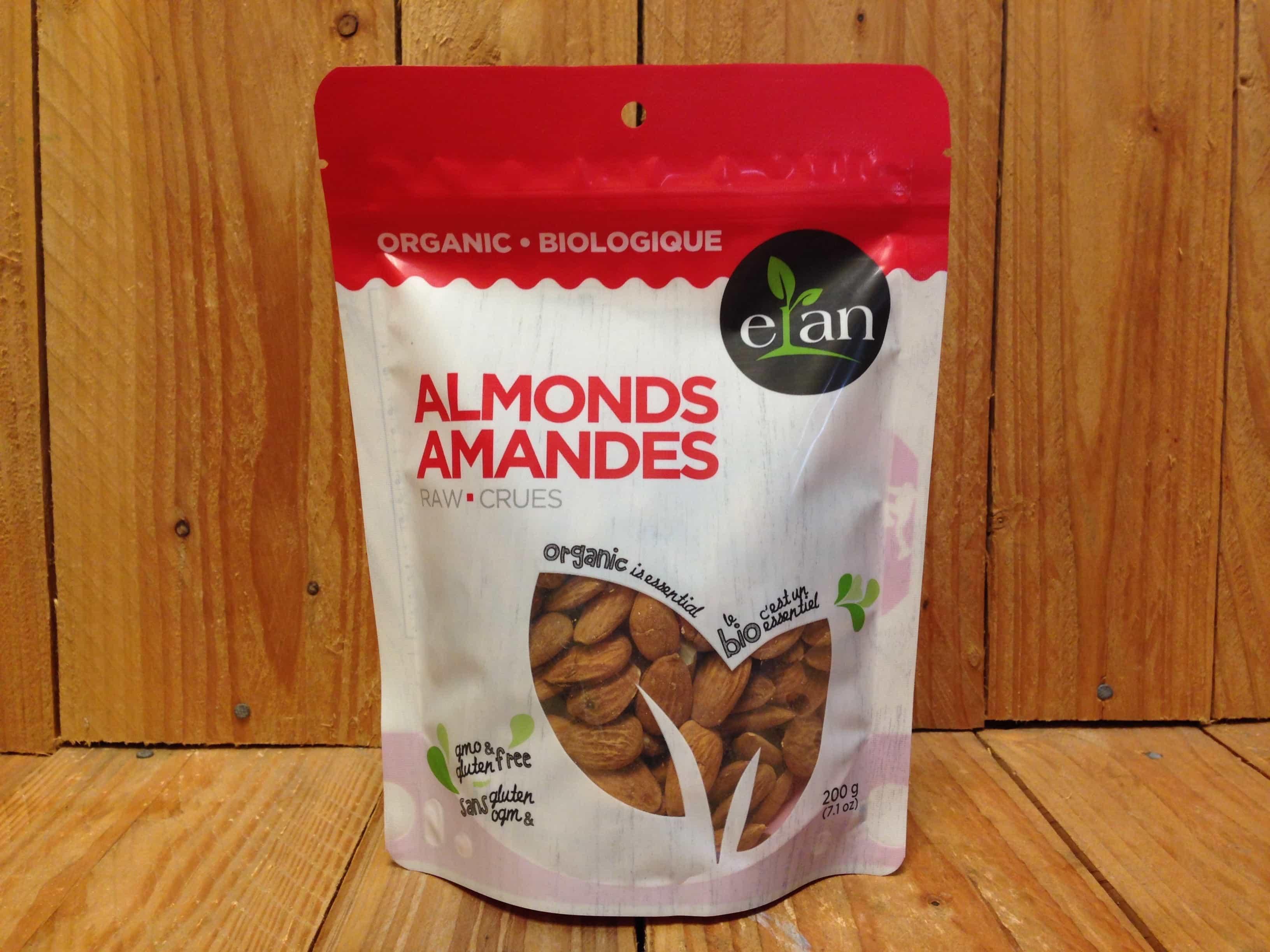 Elan – Organic Raw Almonds (200g)