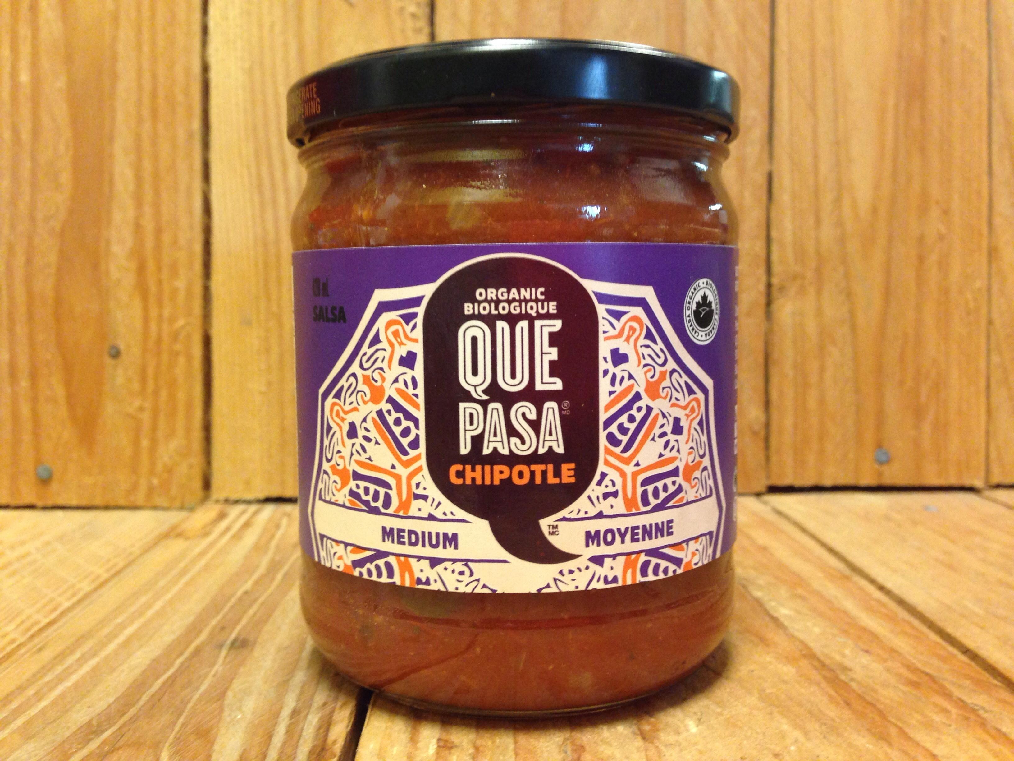 Que Pasa – Medium Chipotle Mexican Salsa (420ml Jar)