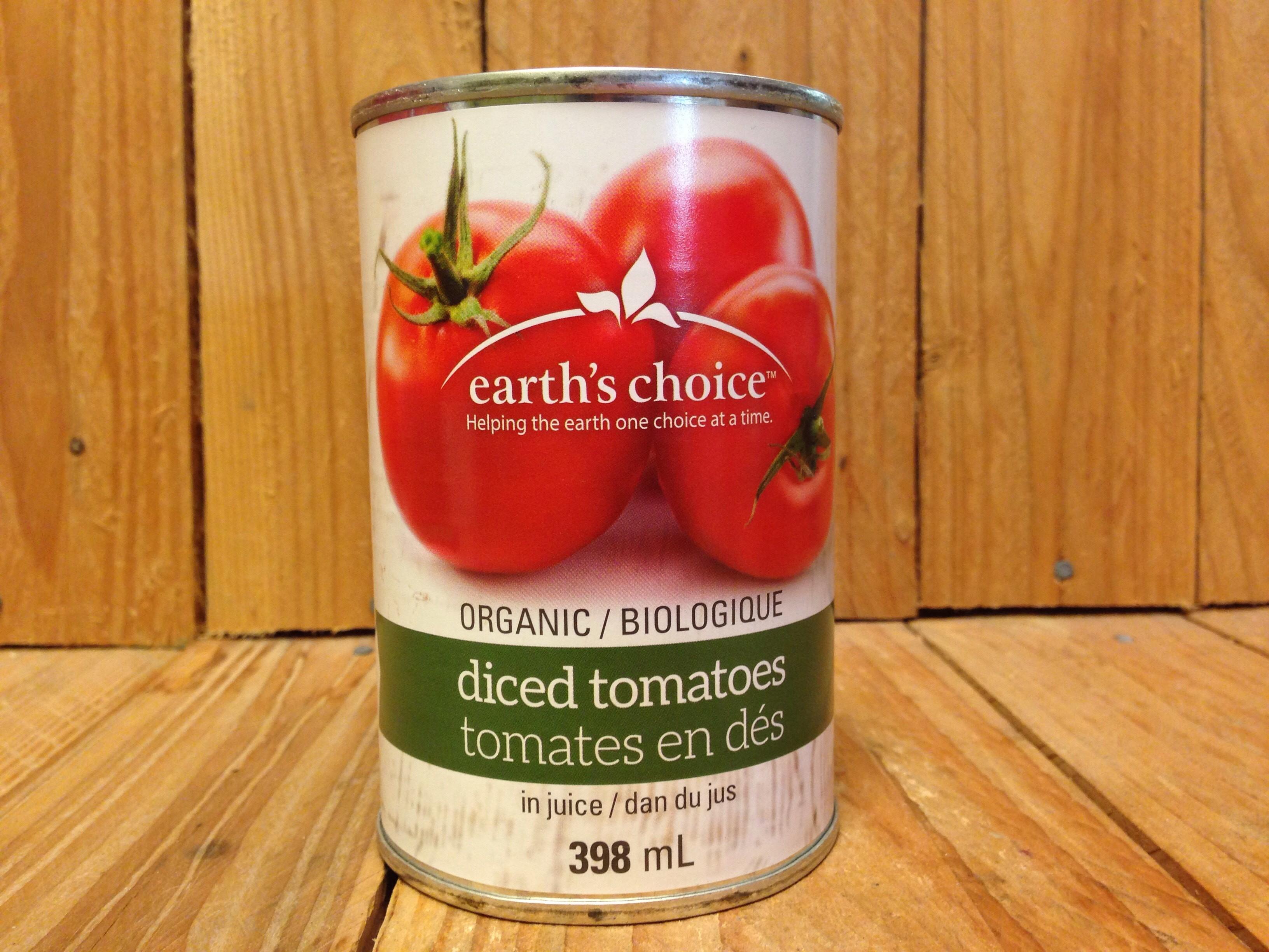 Earth's Choice – Diced Tomatoes (398ml)