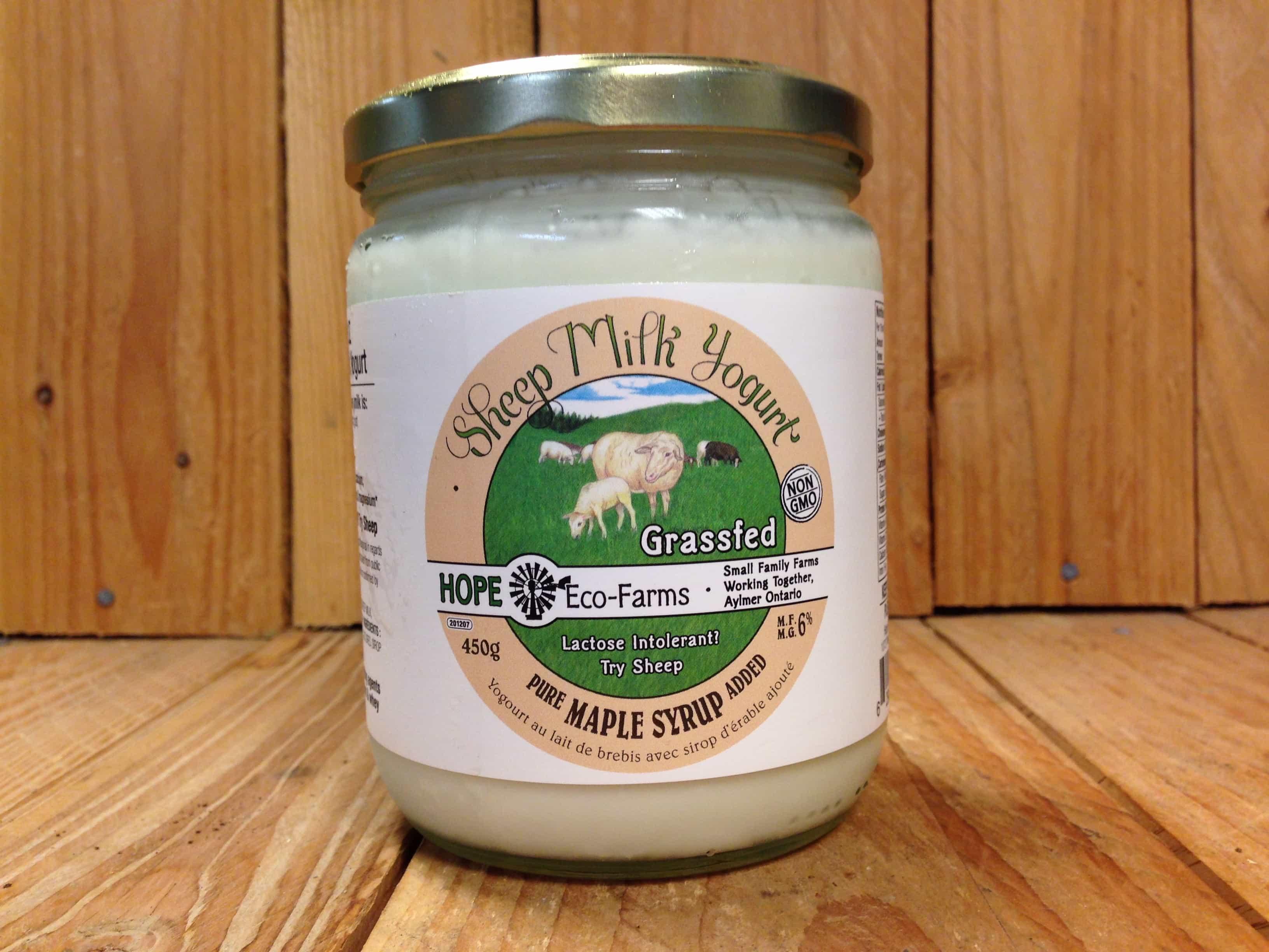 Hope Eco Farms – Sheep Yogurt Maple NON-CERTIFIED (450g)