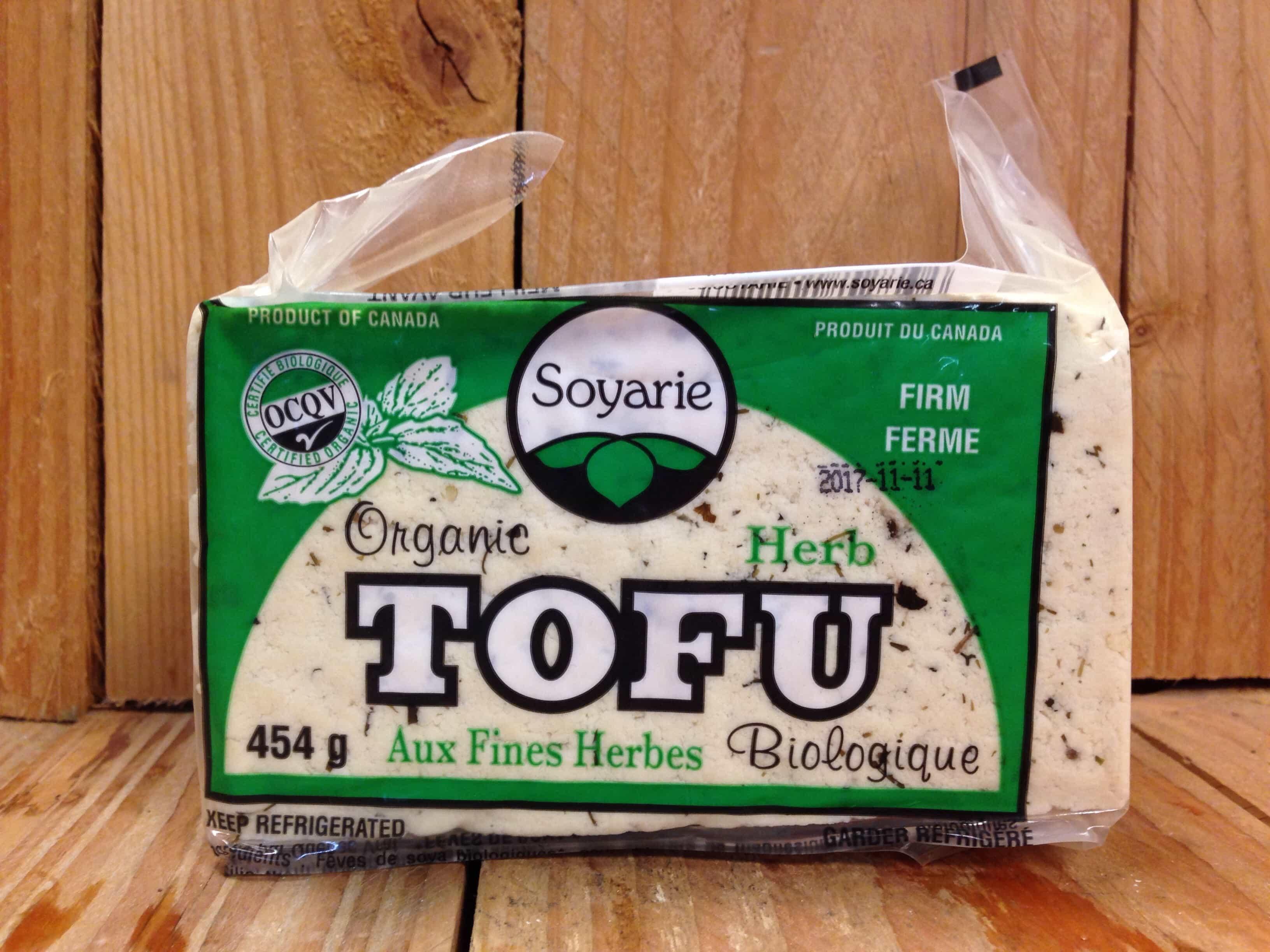 La Soyarie – Tofu – Organic Firm with Herbs LOCAL (454g)