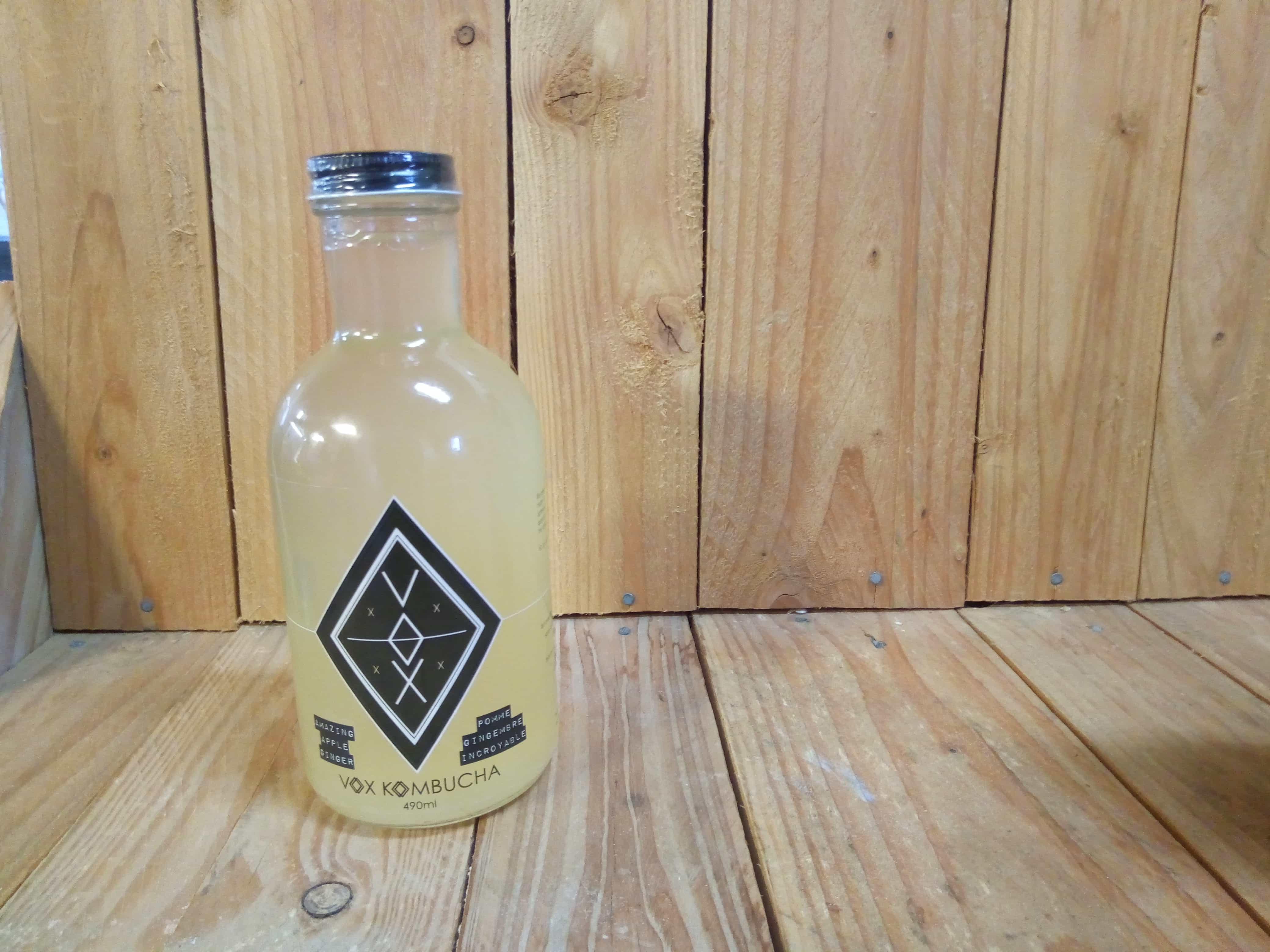 Vox – Kombucha – Amazing Apple-Ginger (490ml Glass Bottle)