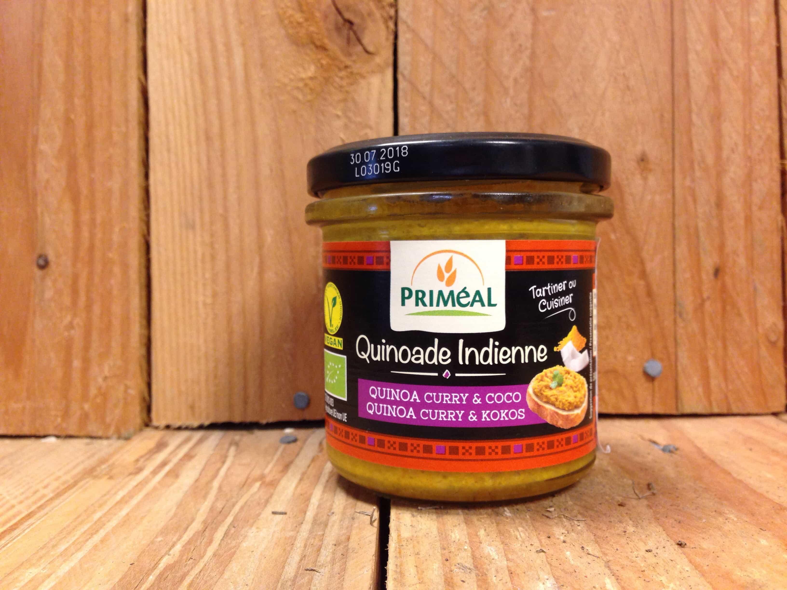 Primeal – Spreadable Dip – Indian Quinoa Curry & Coco (140g)