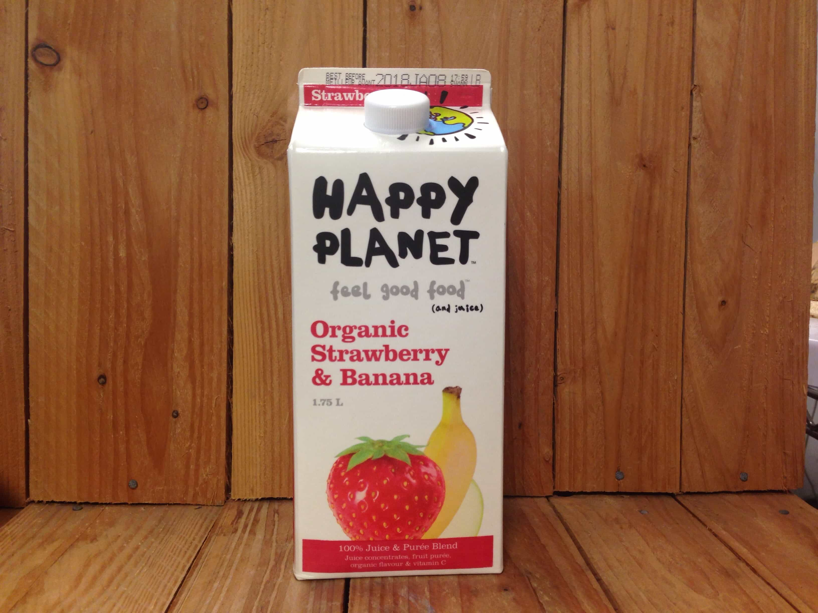 Happy Planet – Organic Strawberry Banana Juice (1.75L Carton)