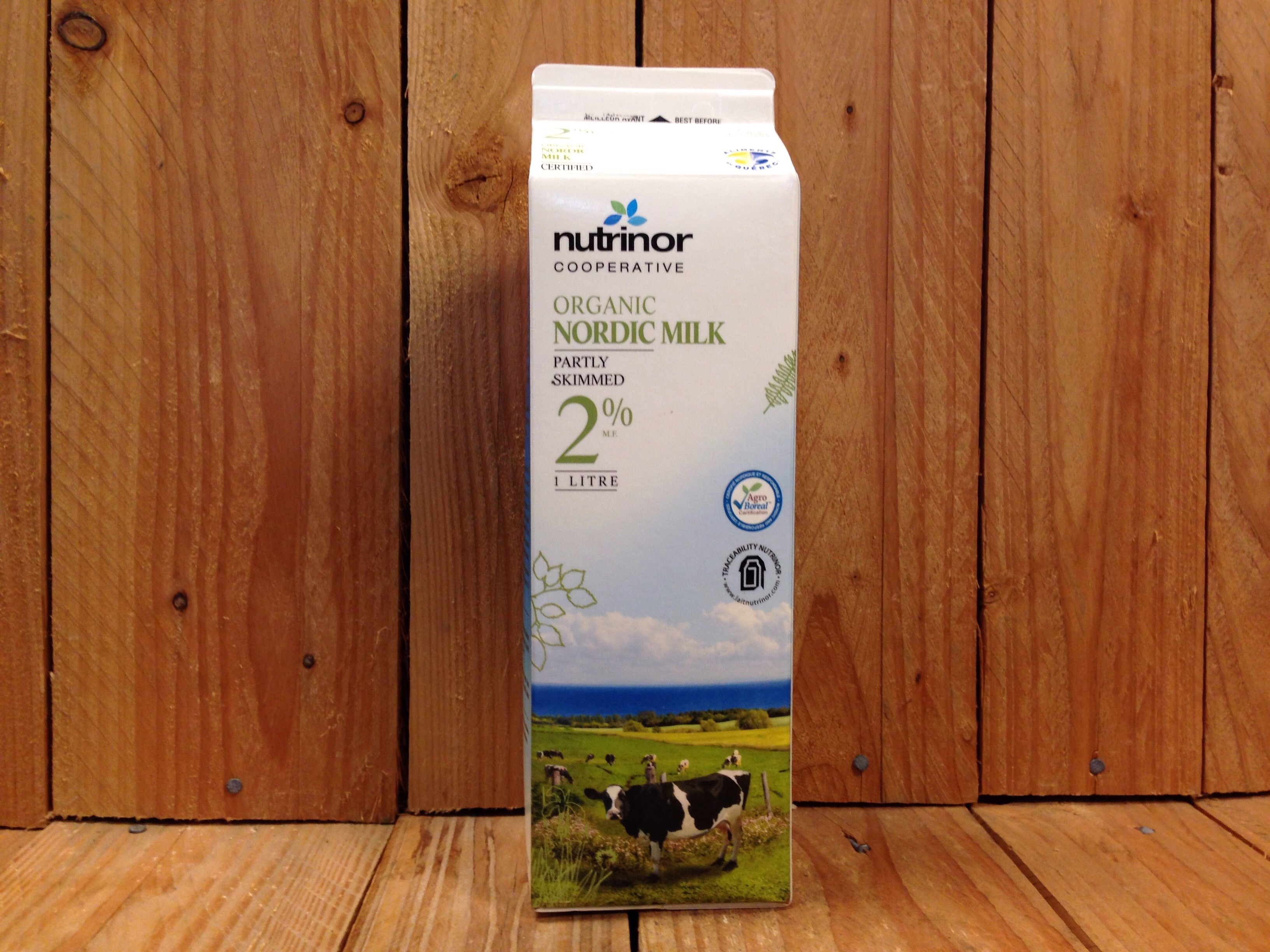 Nutrinor Cooperative – Organic Milk 2% (1L)