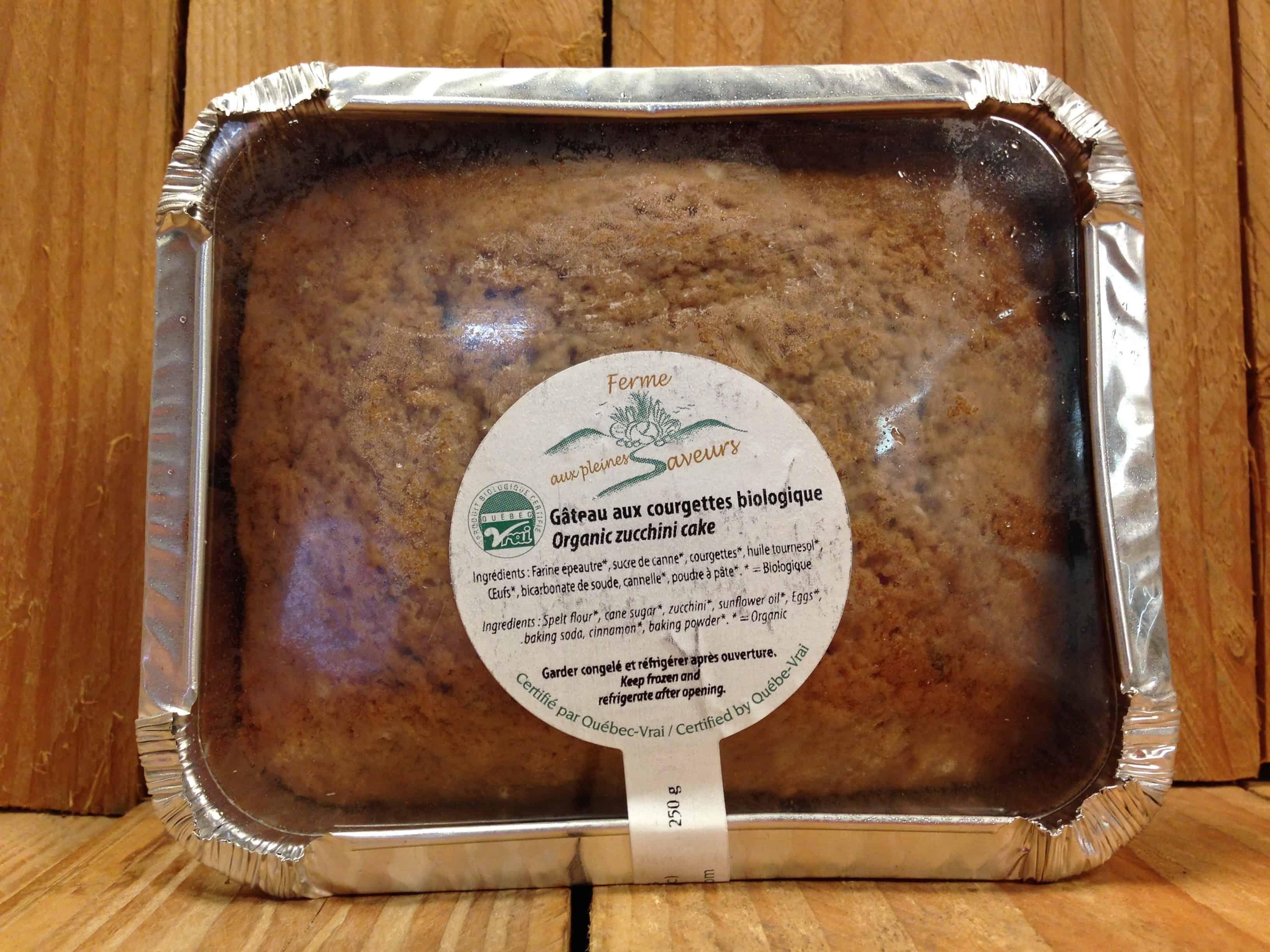 Ferme aux Pleines Saveurs – Frozen Zucchini Cake (250g)