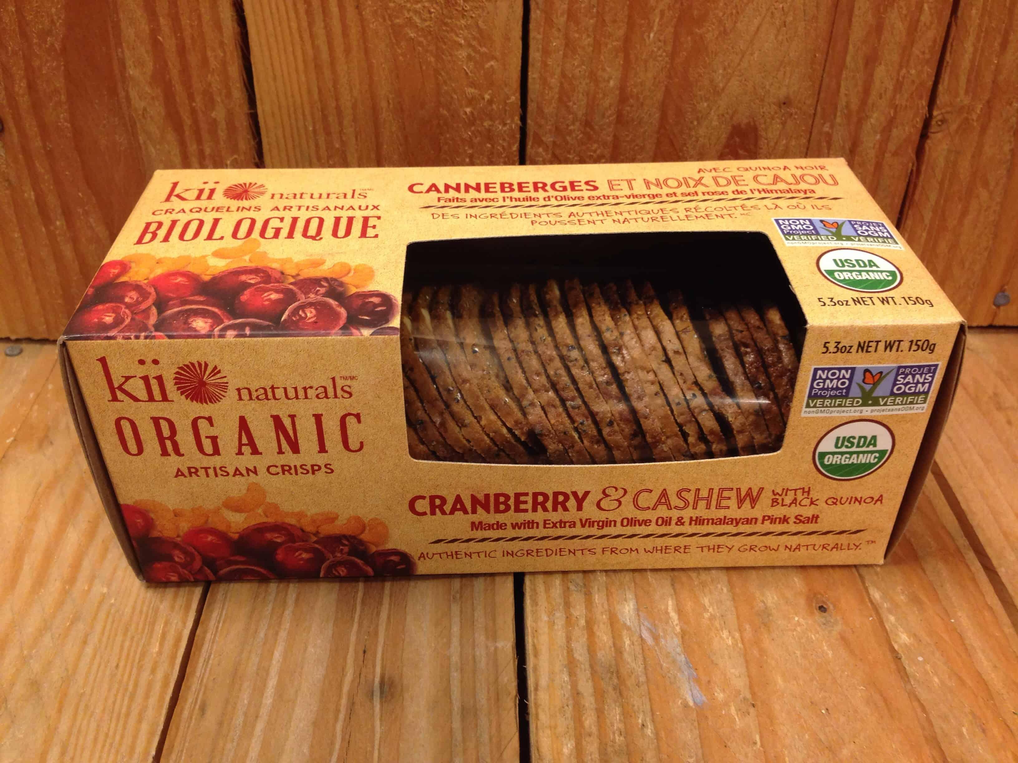 Kii Naturals – Cranberry & Cashew Artisan Crisps (150g)