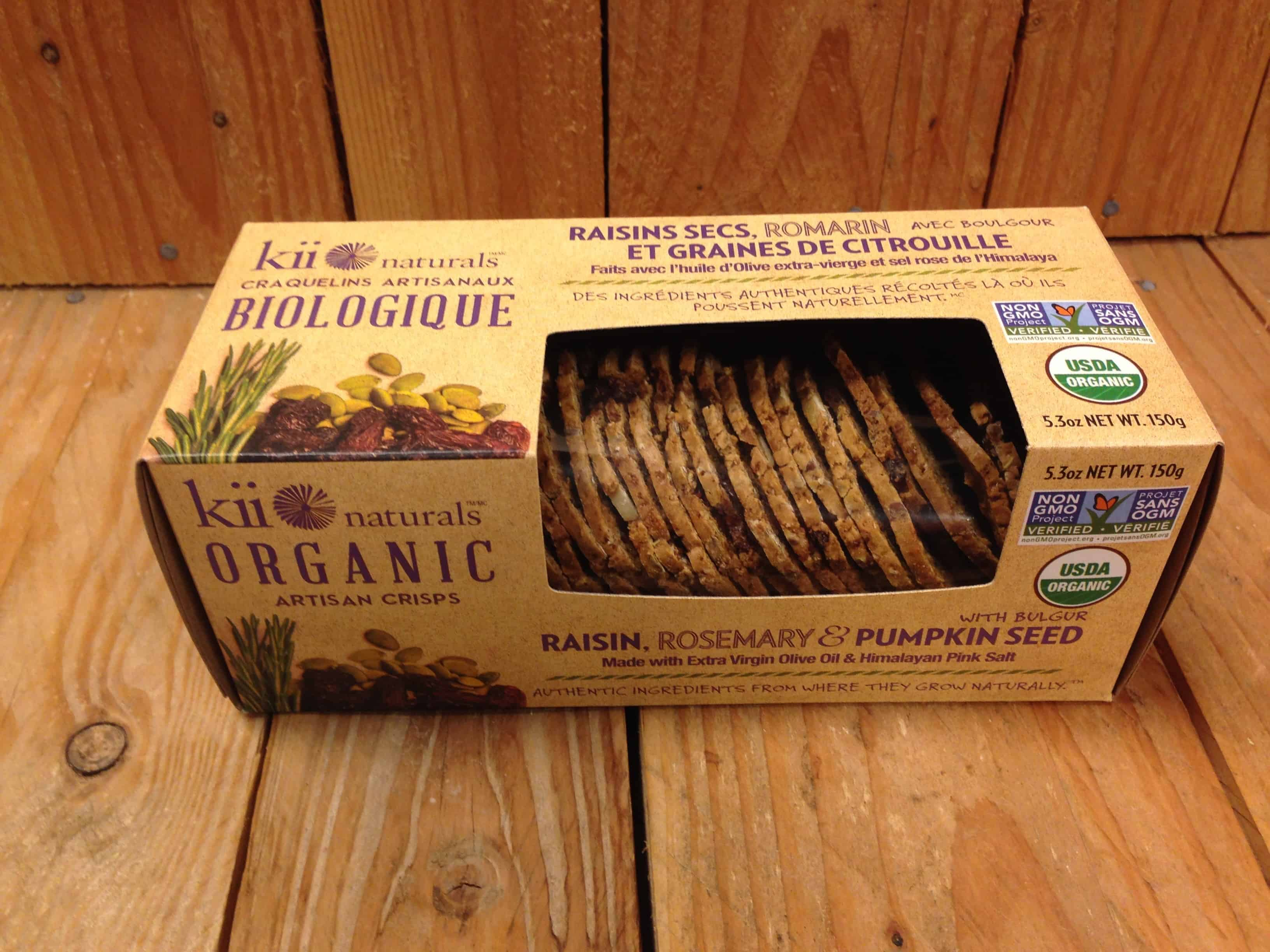 Kii Naturals – Raisin, Rosemary & Pumpkin Seed Artisan Crisps (150g)