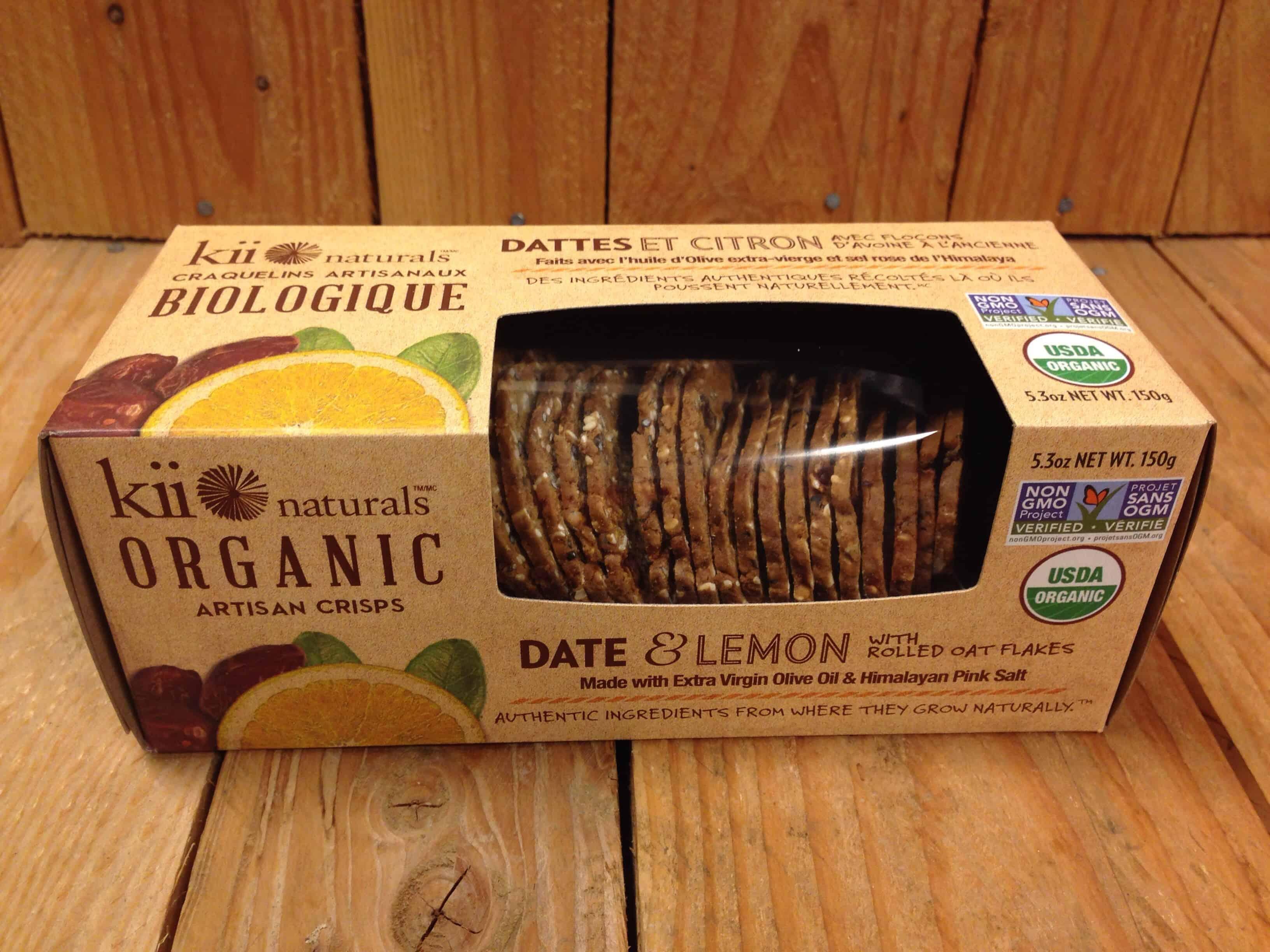 Kii Naturals – Date & Lemon Artisan Crisps (150g)