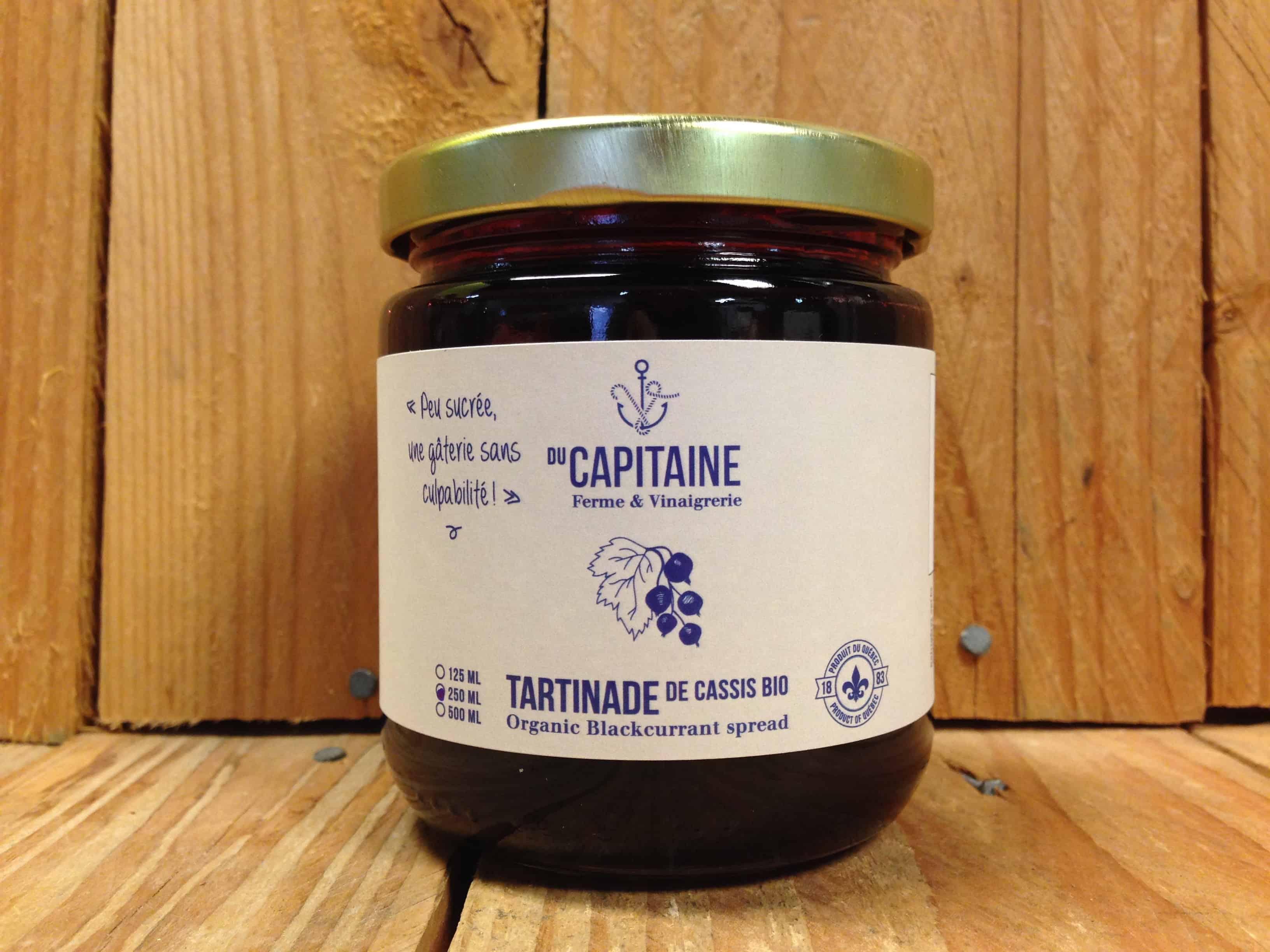 Capitaine – Organic Blackcurrant Spread (250ml)