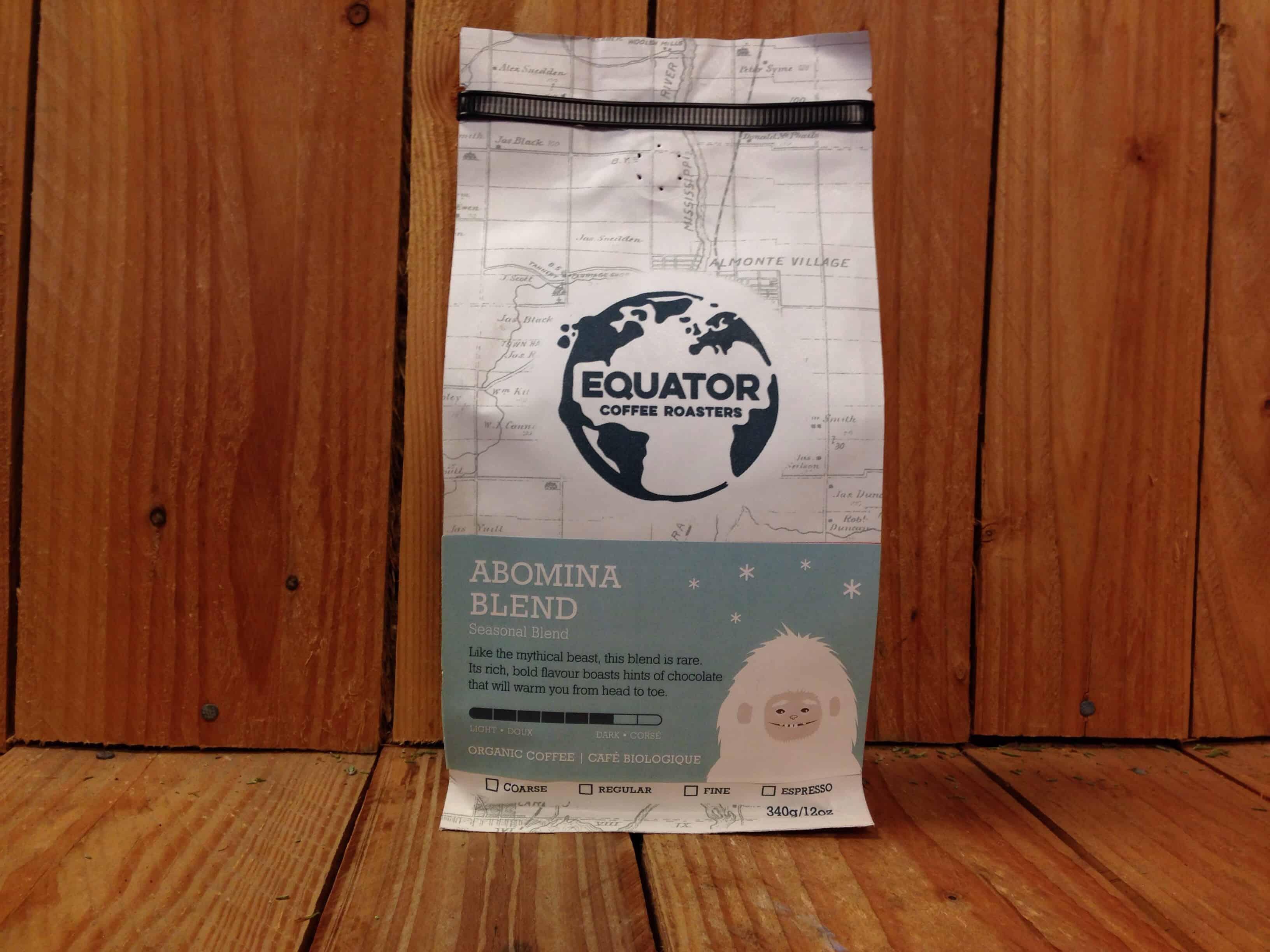 Equator – Organic Coffee – Abomina Blend DARK (340g Bag)