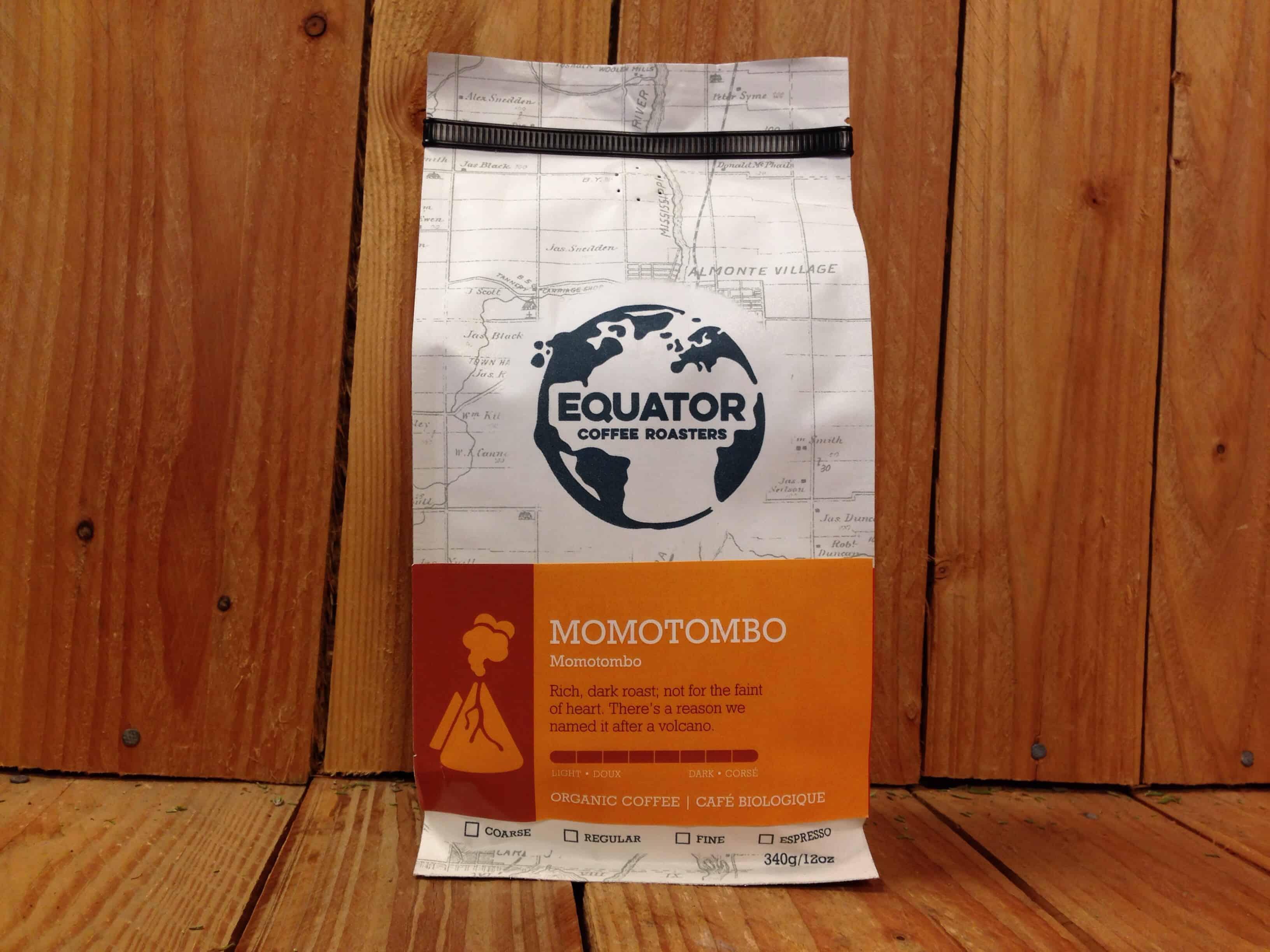 Equator – Organic Coffee – Momotombo DARK (340g Bag)