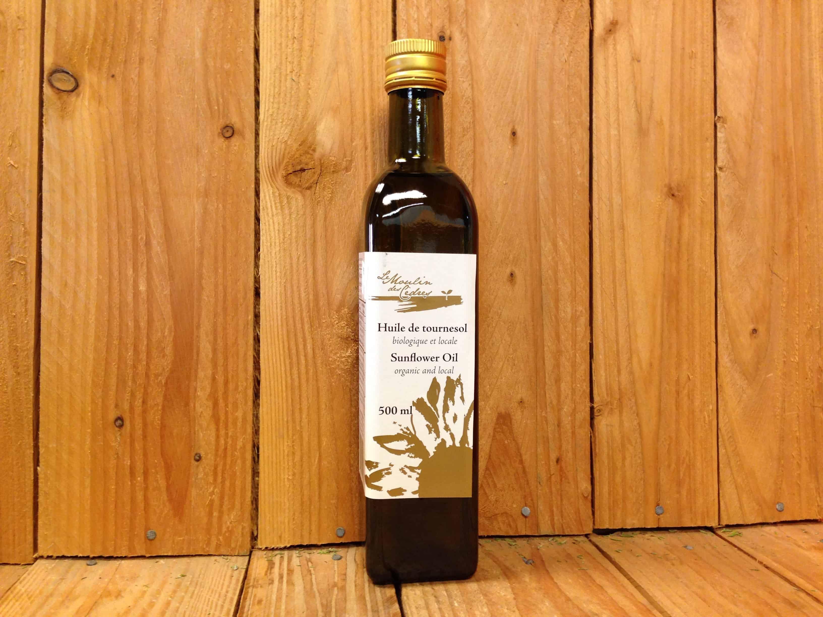 Les Moulins des Cedres – Sunflower Oil (500ml Bottle)