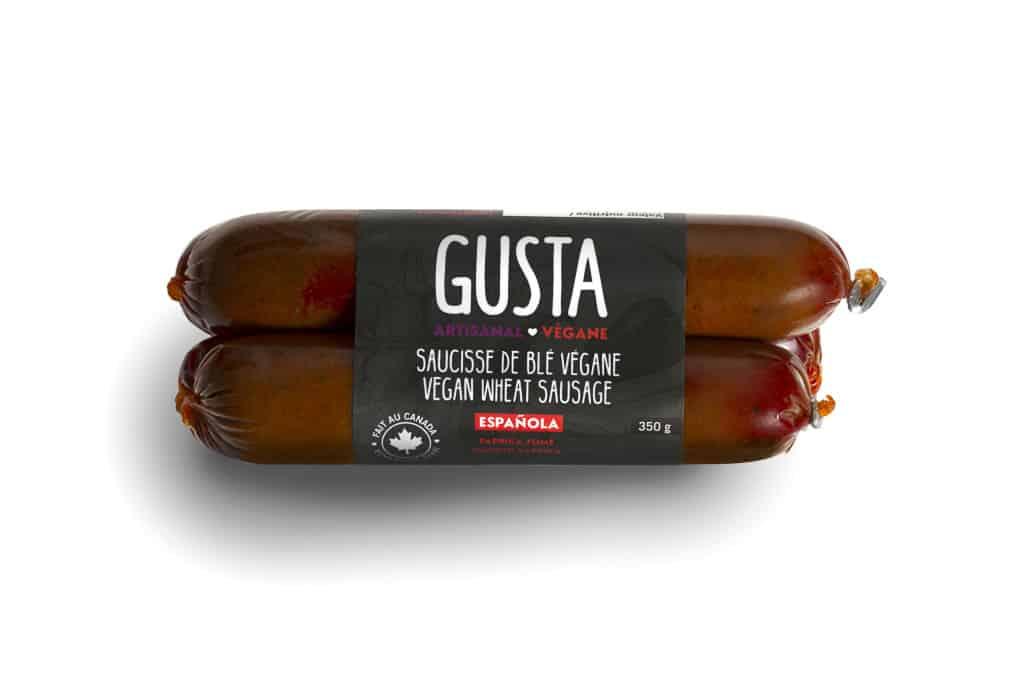 Gusta Vegan Wheat Sausage – Espanola – NON-CERTIFIED – Smoked Paprika (350g)