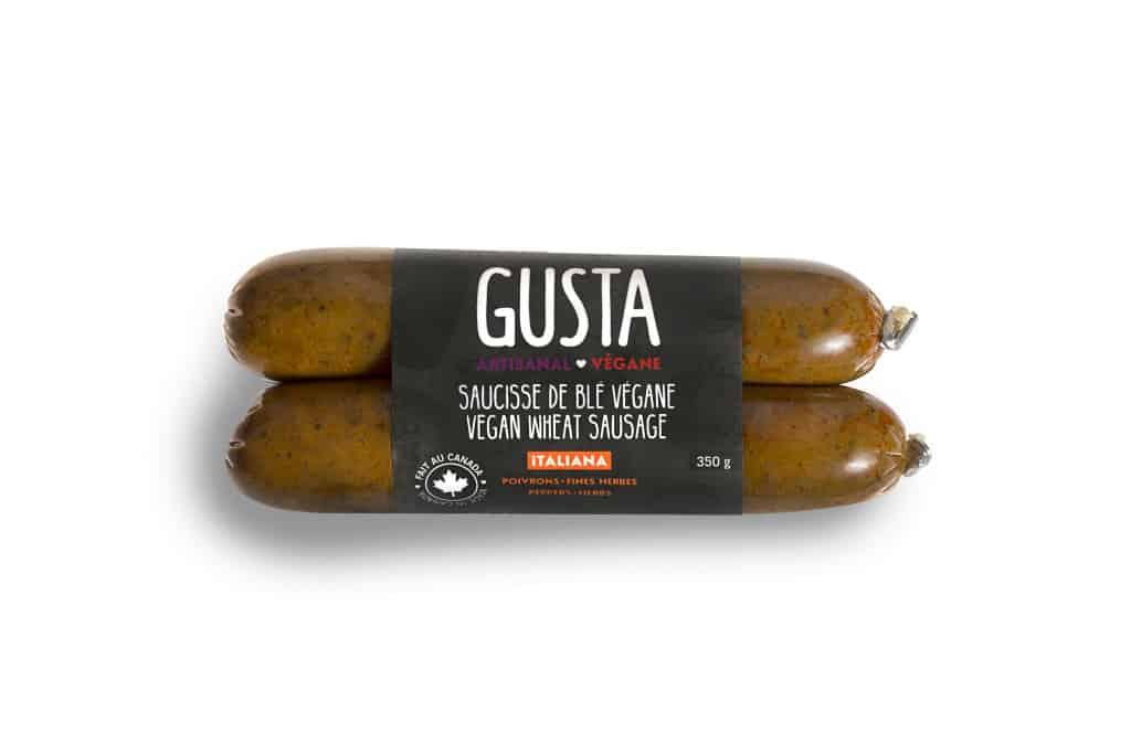 Gusta Vegan Wheat Sausage – Italiana – Pepper Fine Herbs (350g)