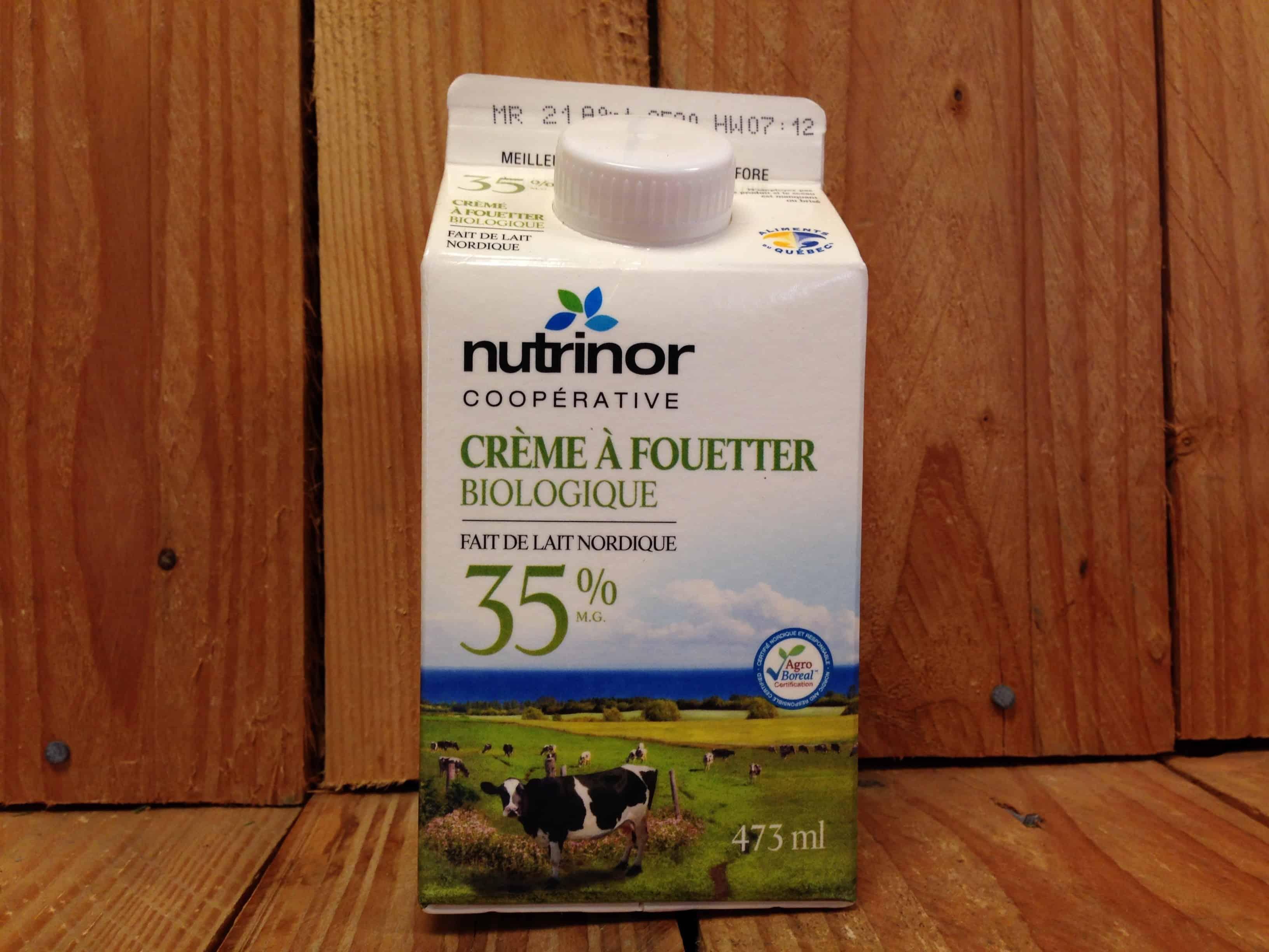 Nutrinor Cooperative – Organic Whipping Cream 35% (473ml)