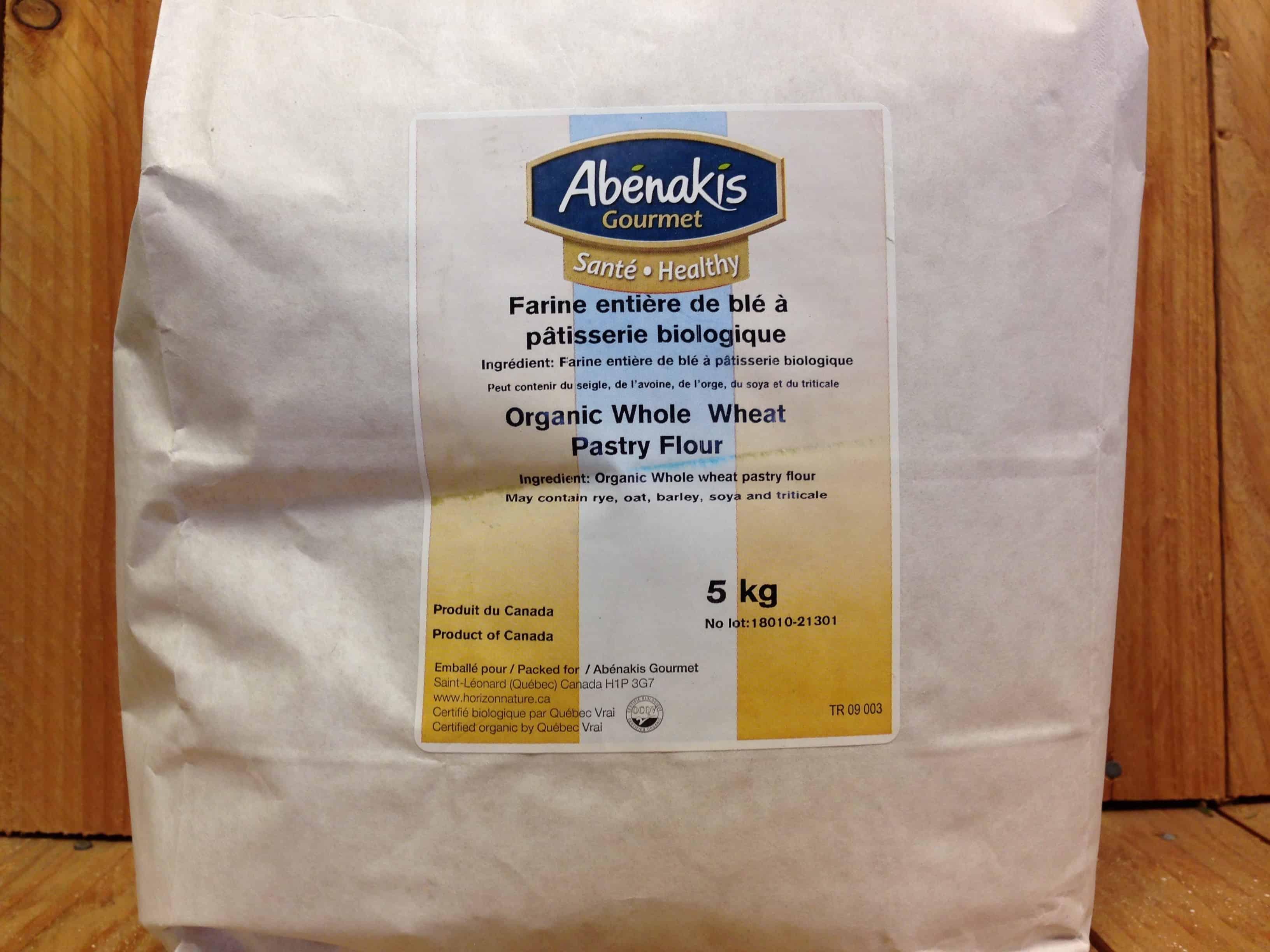 Abenakis – Organic Pastry Flour, Wheat, SIFTED (5kg Bag Bulk)