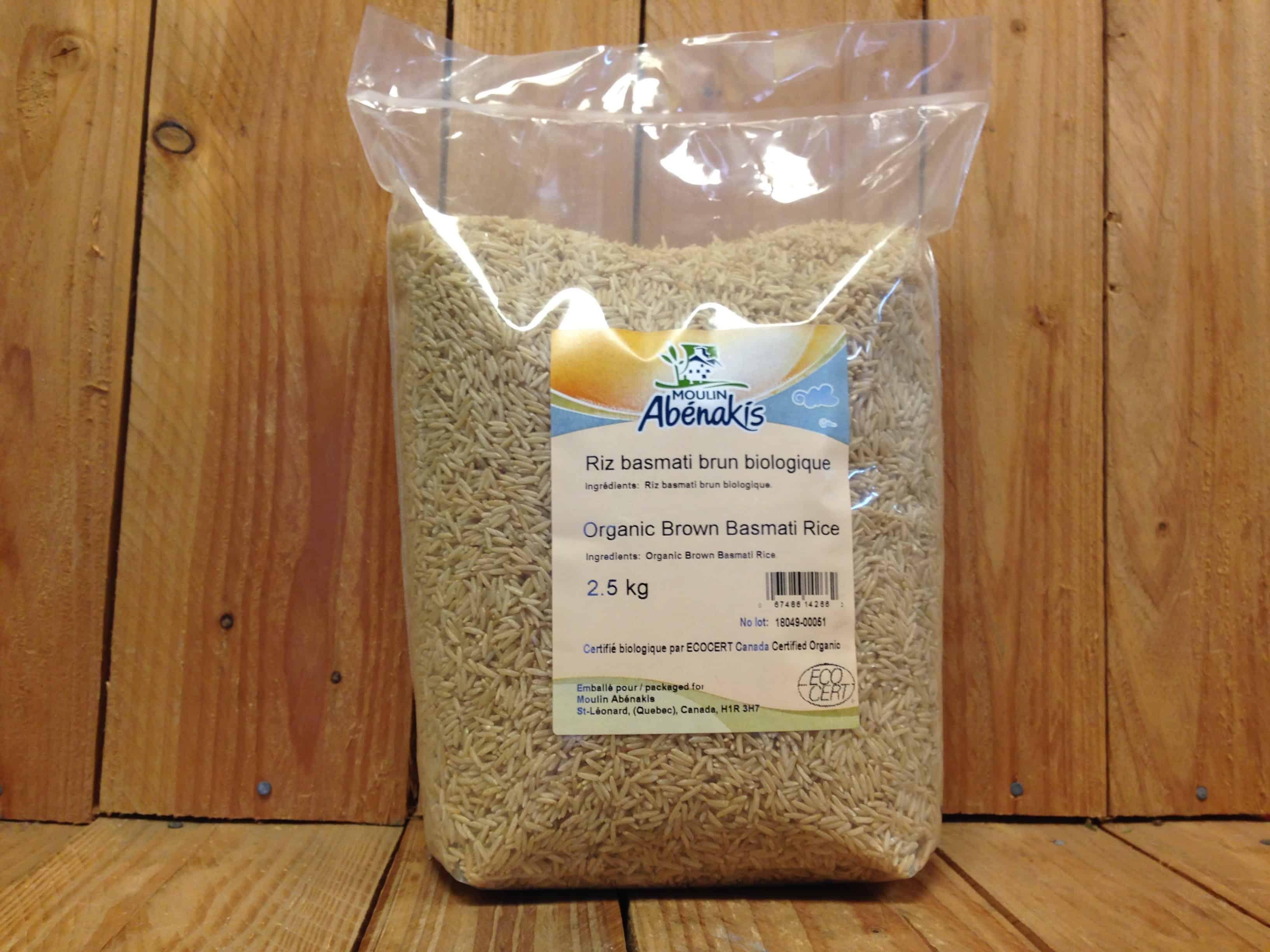 Abenakis – Rice Brown Basmati (2.5kg Bag Bulk)