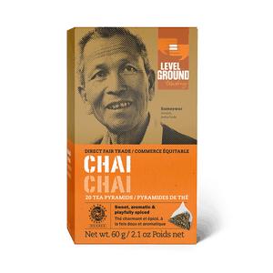 Level Ground Trading – Tea Chai FAIR TRADE (20 Pyramids)