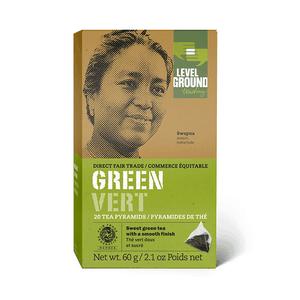 Level Ground Trading – Tea Green (20 Pyramids)
